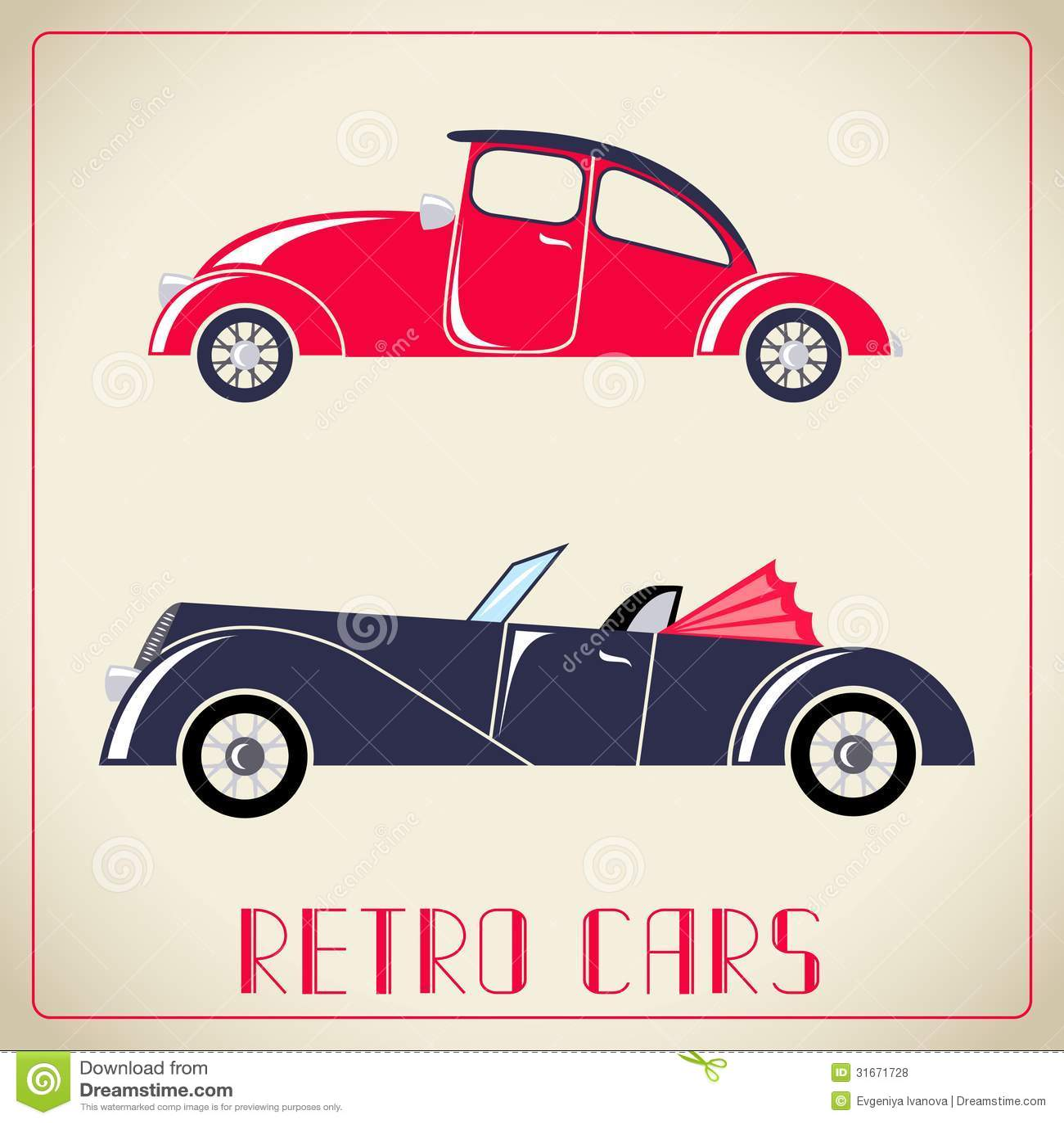 Ejemplo retro de los coches
