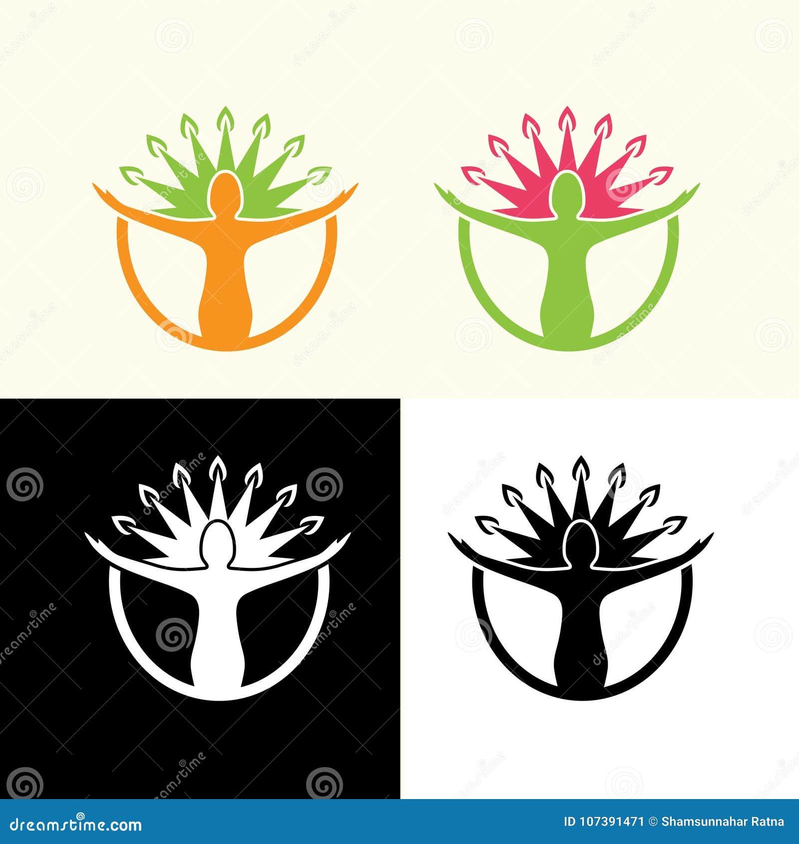 Ejemplo sano del diseño del logotipo de la vida de la salud