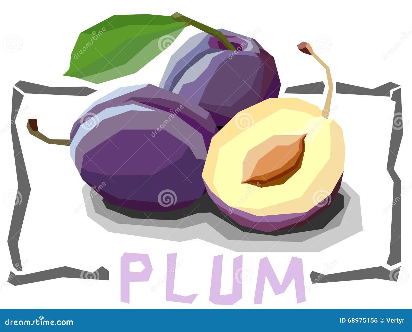 Ejemplo simple del vector de los ciruelos de la fruta