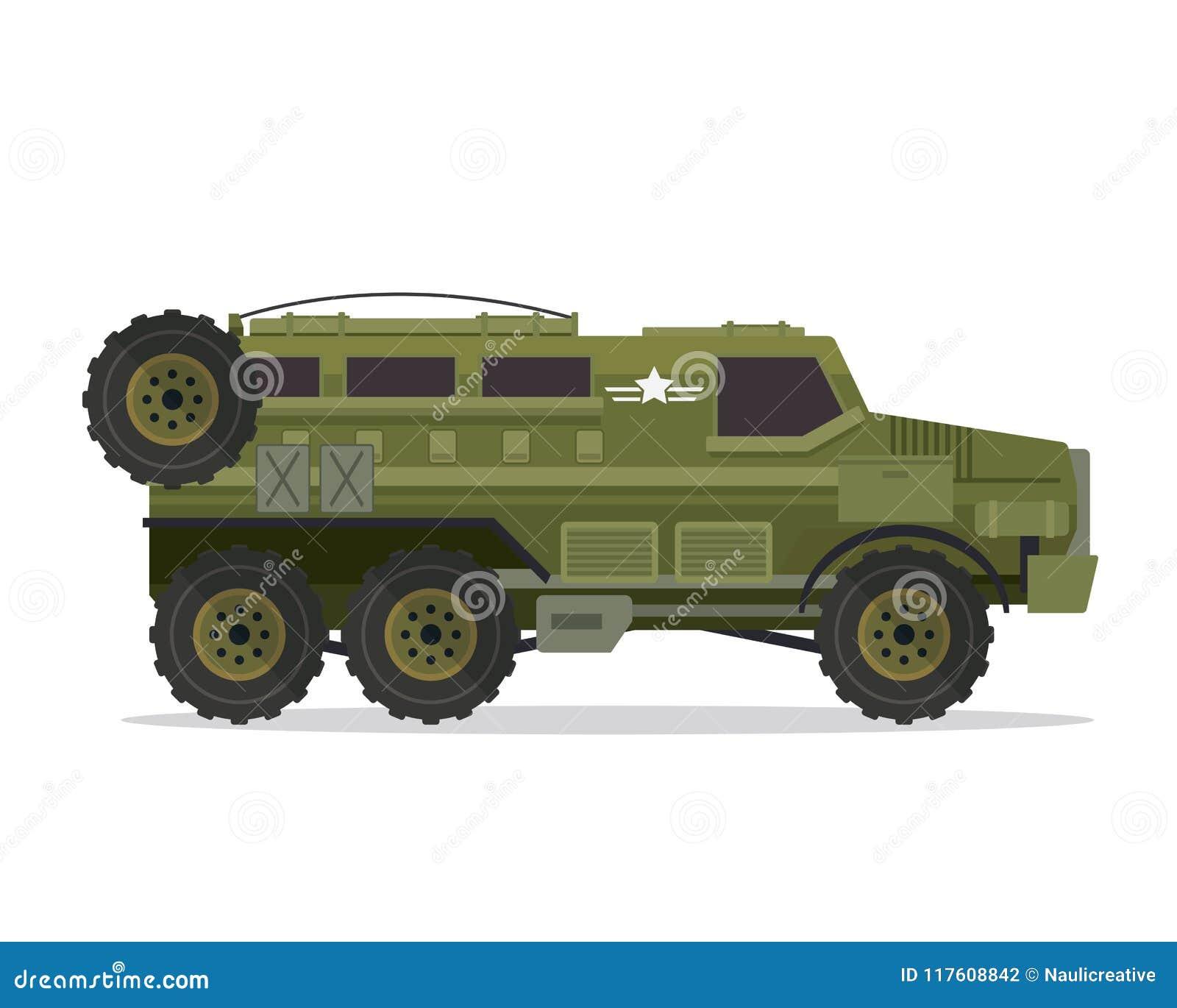 Ejemplo urbano moderno del vehículo militar