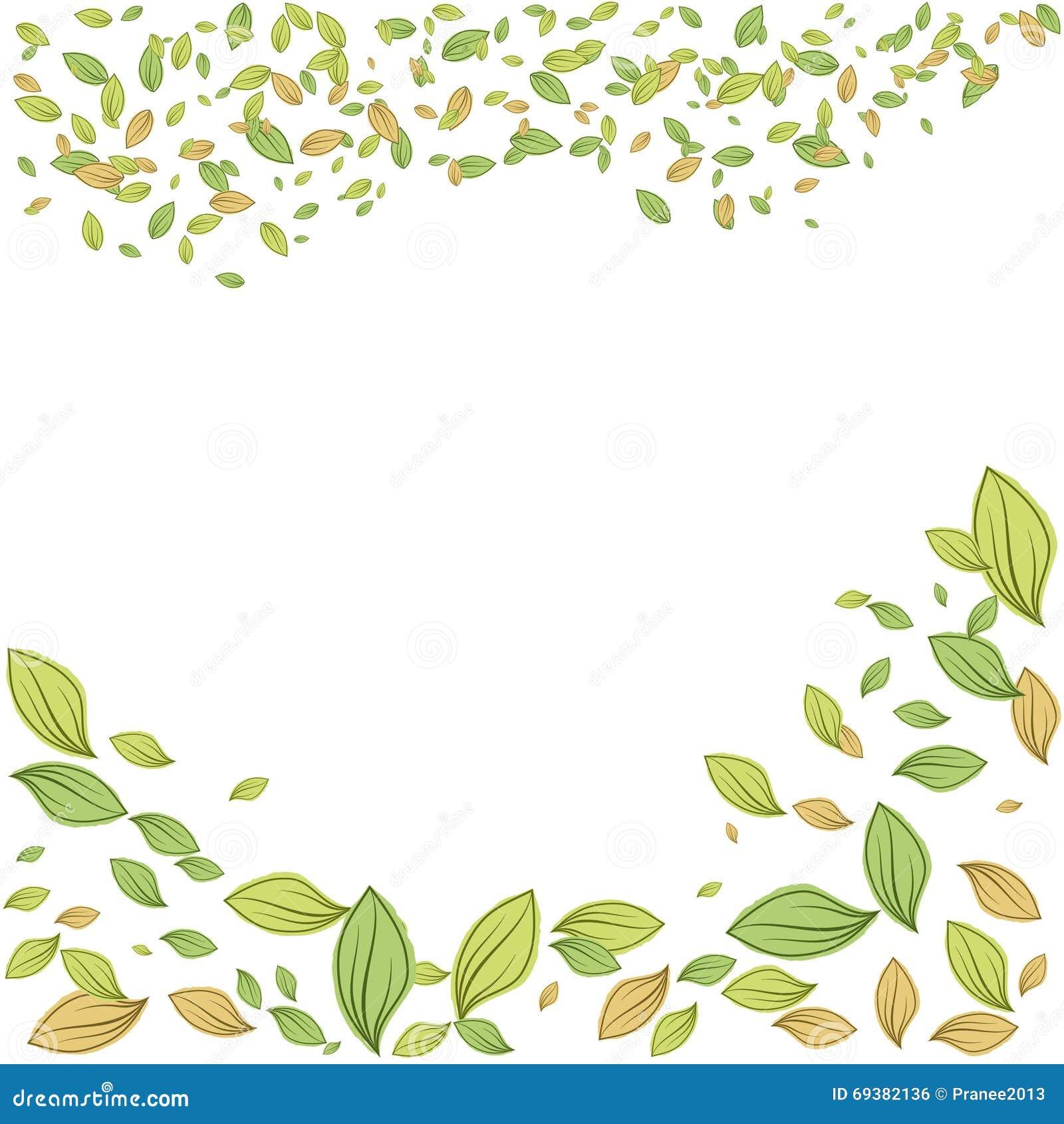 Ejemplo verde del vector del marco de las hojas para el - Marcos para plantas ...
