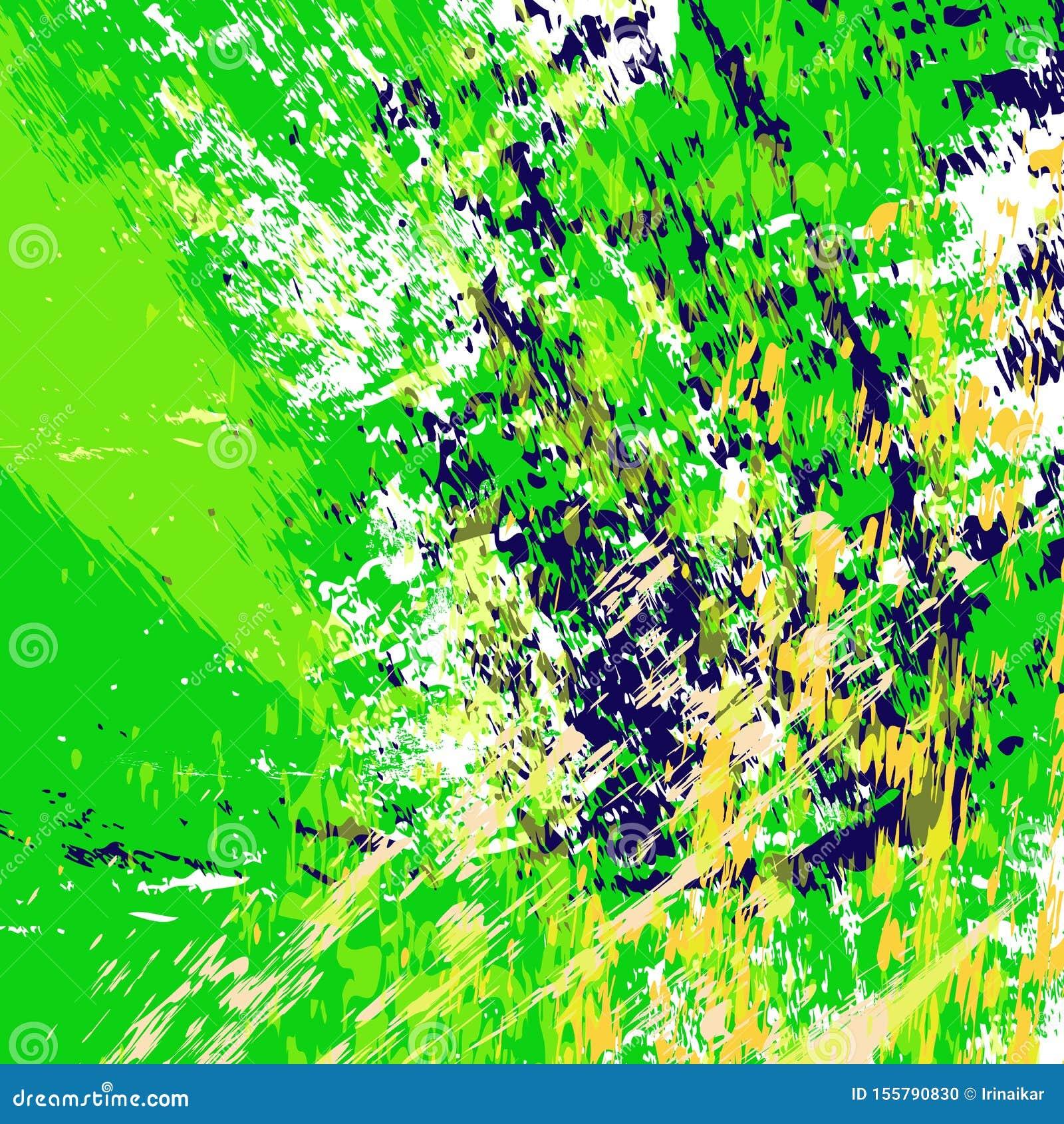 Ejemplo verde jugoso del fondo Las rayas texturizadas exhaustas de la mano, movimientos, salpican y los puntos