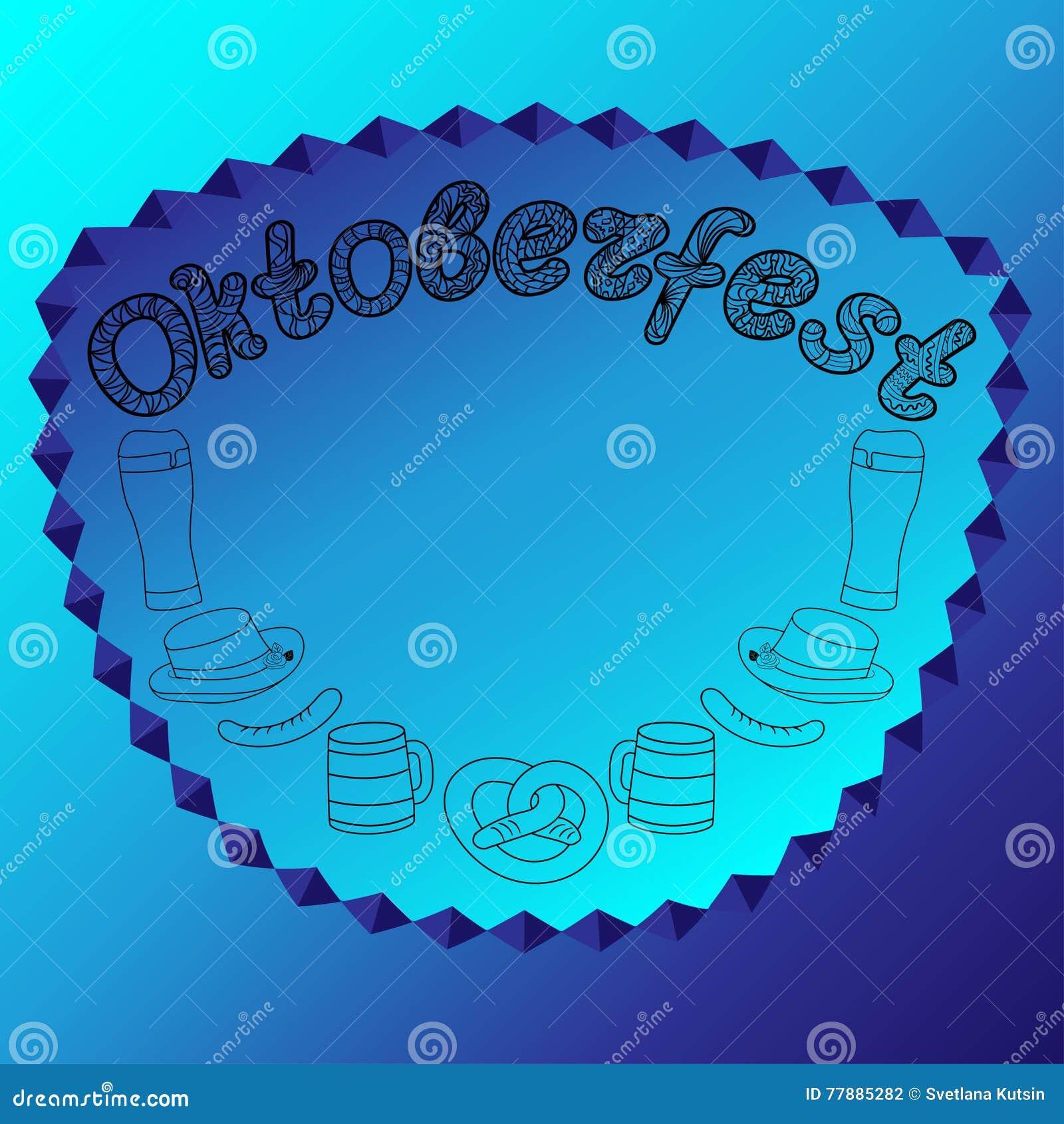 Ejemplos Dibujados Mano De Oktoberfest Ilustración del Vector