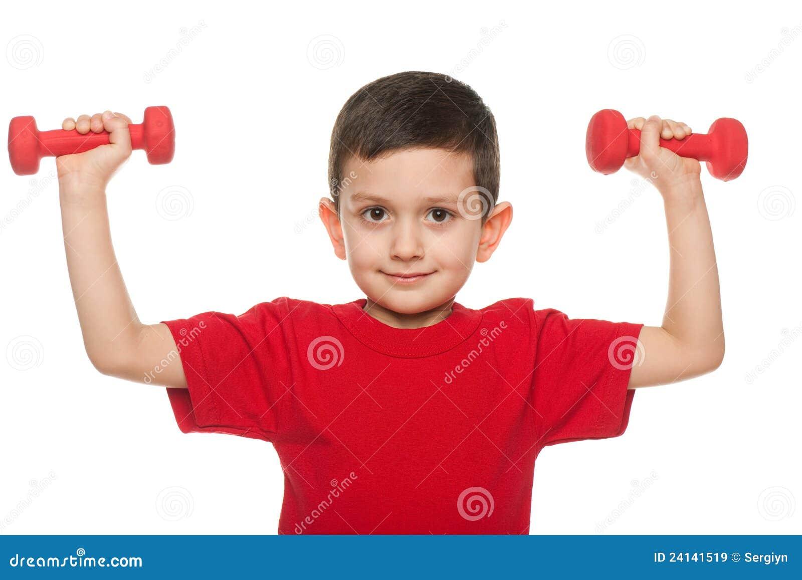 Ejercicios con pesas de gimnasia im genes de archivo for Ejercicios de gimnasia