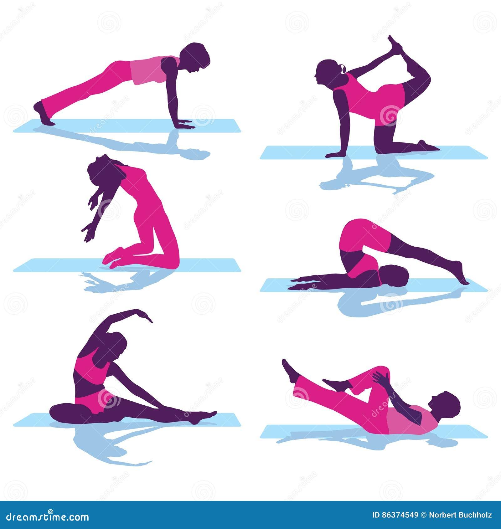 Ejercicios traseros gimnasia del piso ilustraci n del for Ejercicios de gimnasia