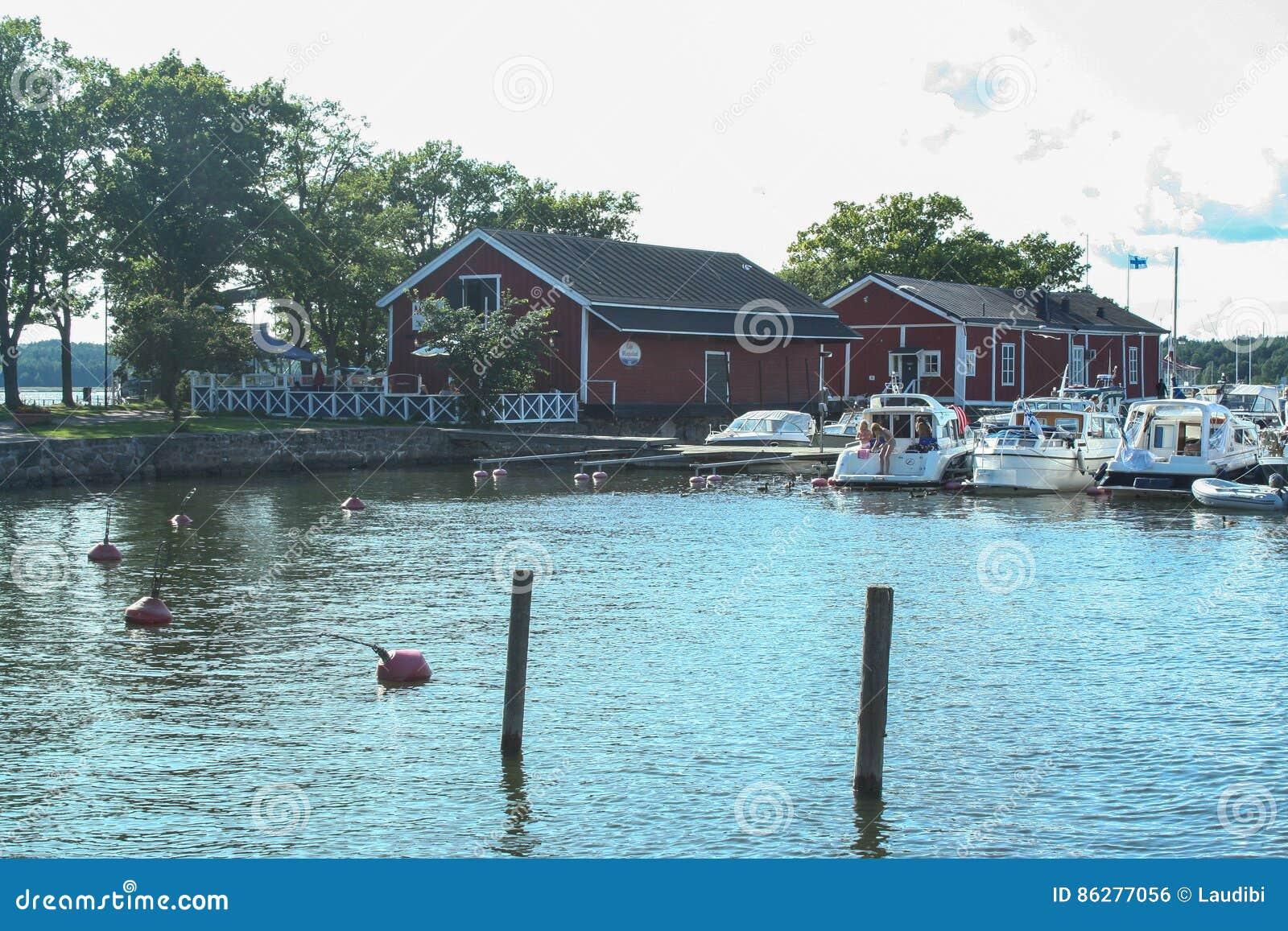 Ekenas wenig Hafen in Finnland