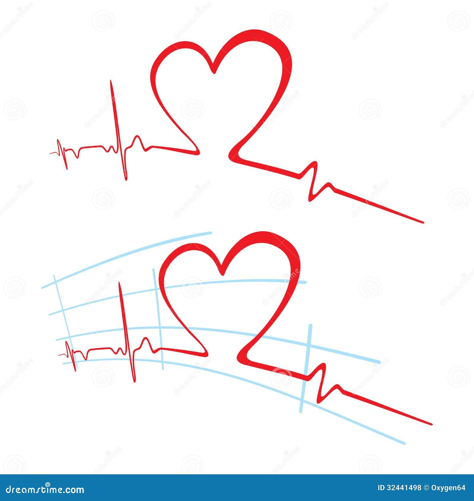 EKG Of Love Royalty Free Stock Photos - Image: 32441498