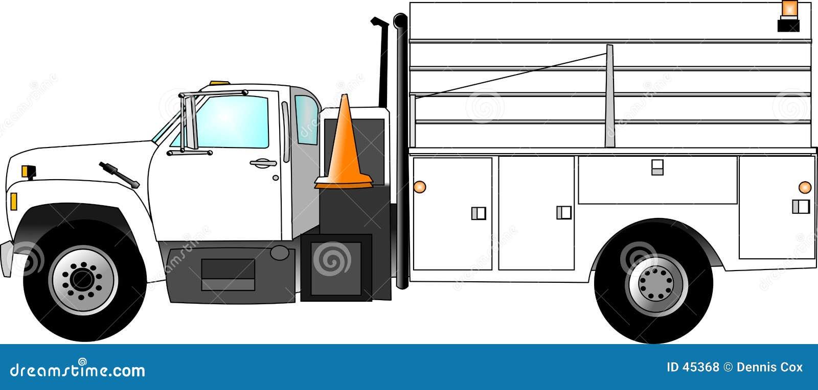 Ekipa remontowa ciężarówka.
