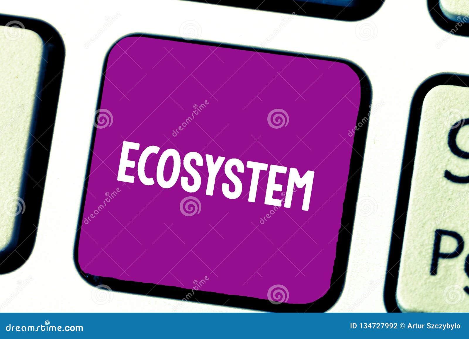 Ekosystem för textteckenvisning Biologisk gemenskap för begreppsmässigt foto av den påverkande varandra organismer och miljötange