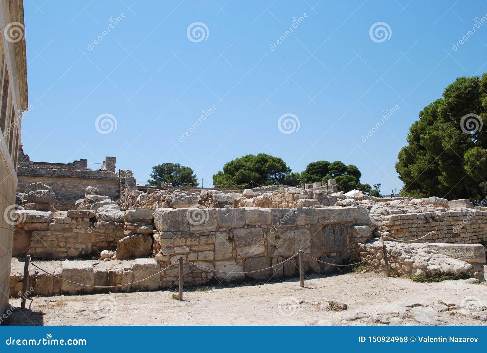 Ekskawacje antyczny miasto Heraklion, Crete