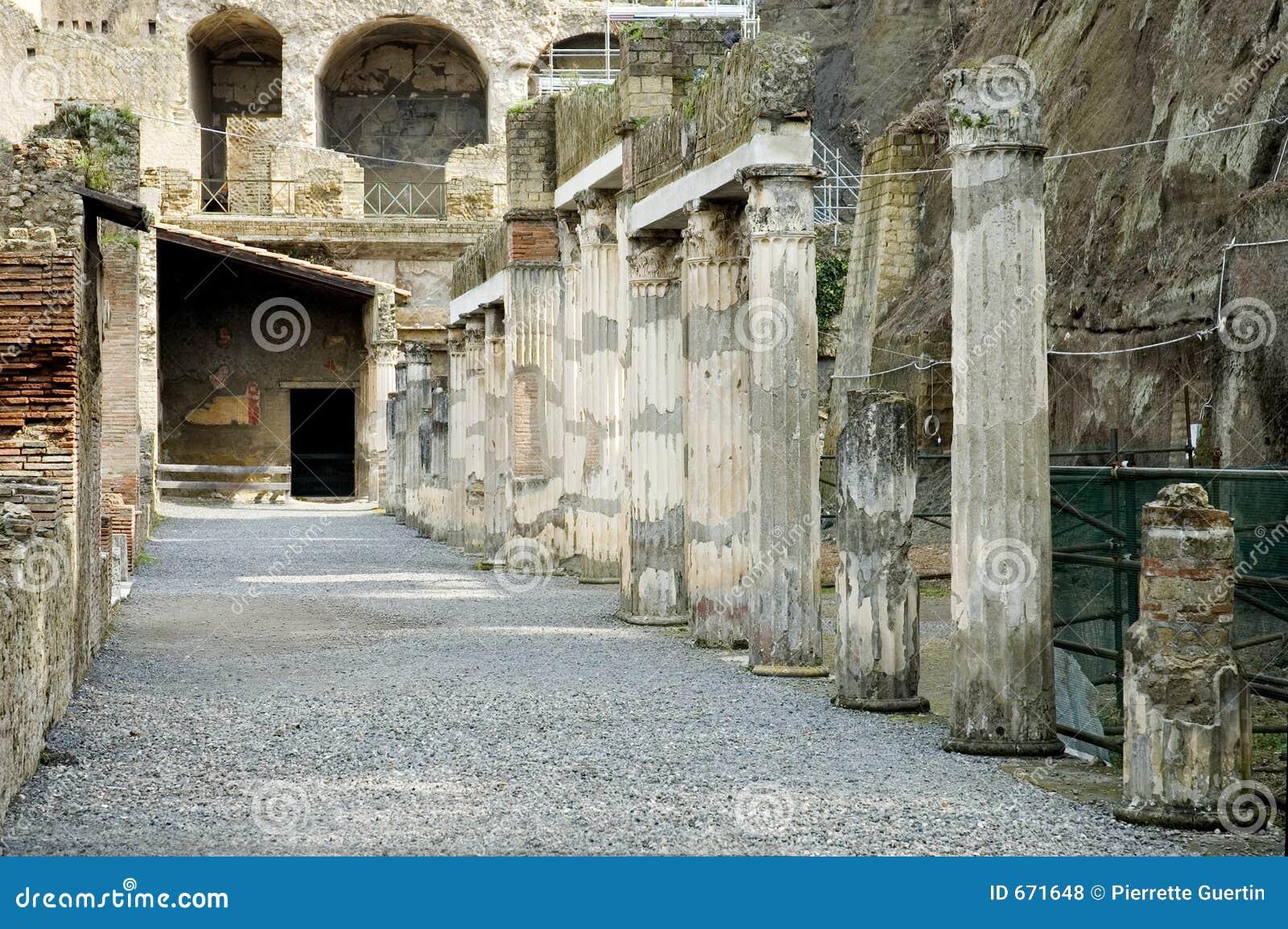 Ekskawacje Herculaneum Neapolu Włochy