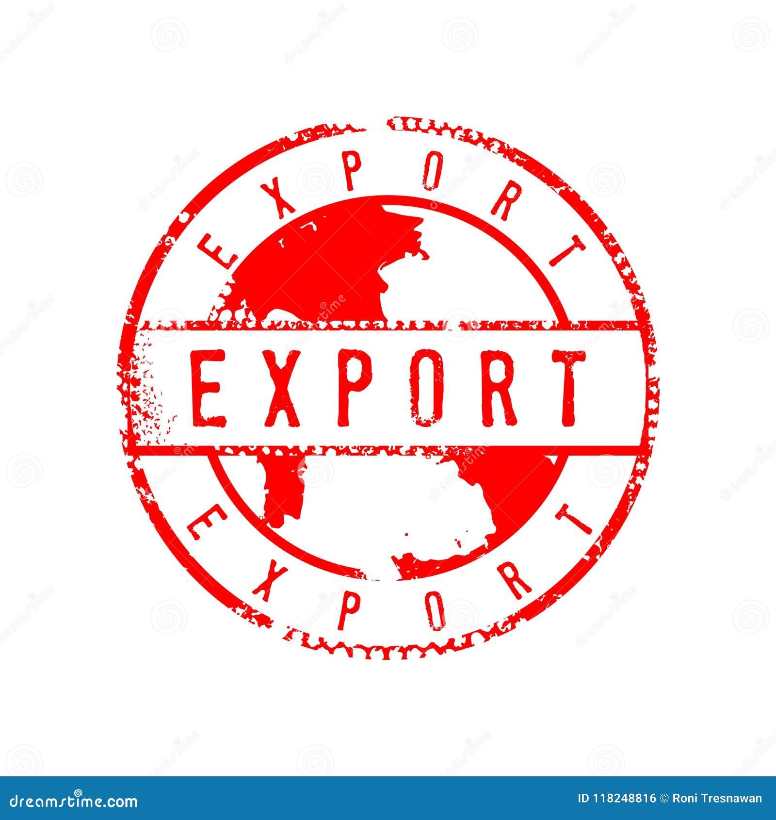 Eksportowy znak Martwiący okręgu znaczka znaka Graficznego projekta szablon