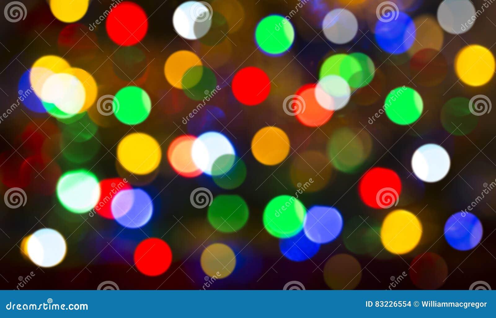 El árbol de navidad enciende el fondo de Bokeh