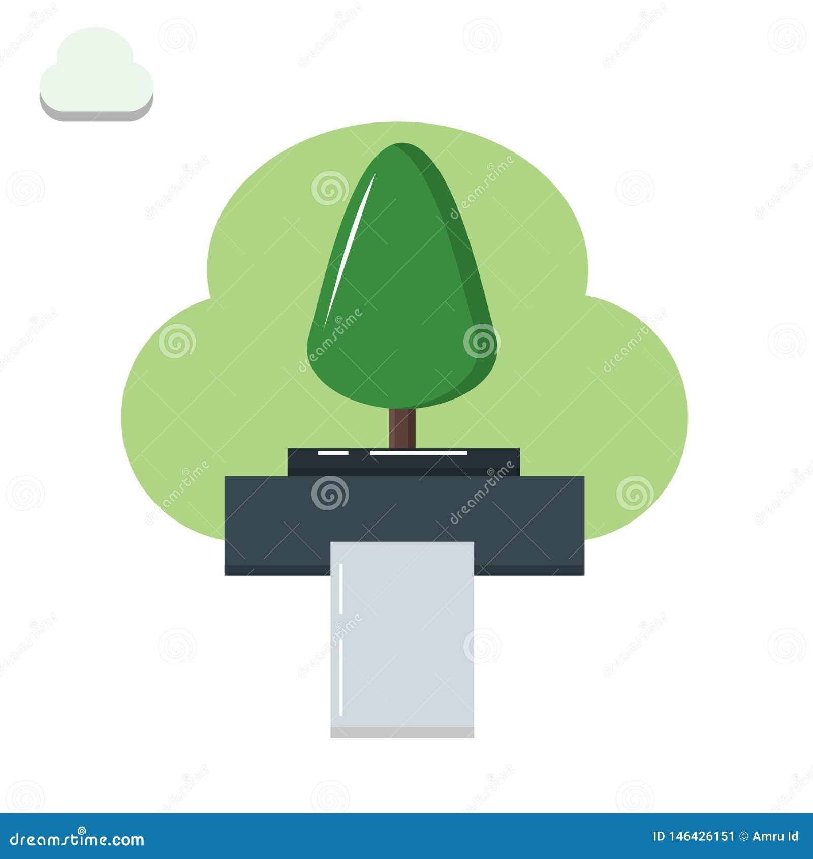 El árbol llega a ser de papel, árbol, impresora, papel, degradación ambiental