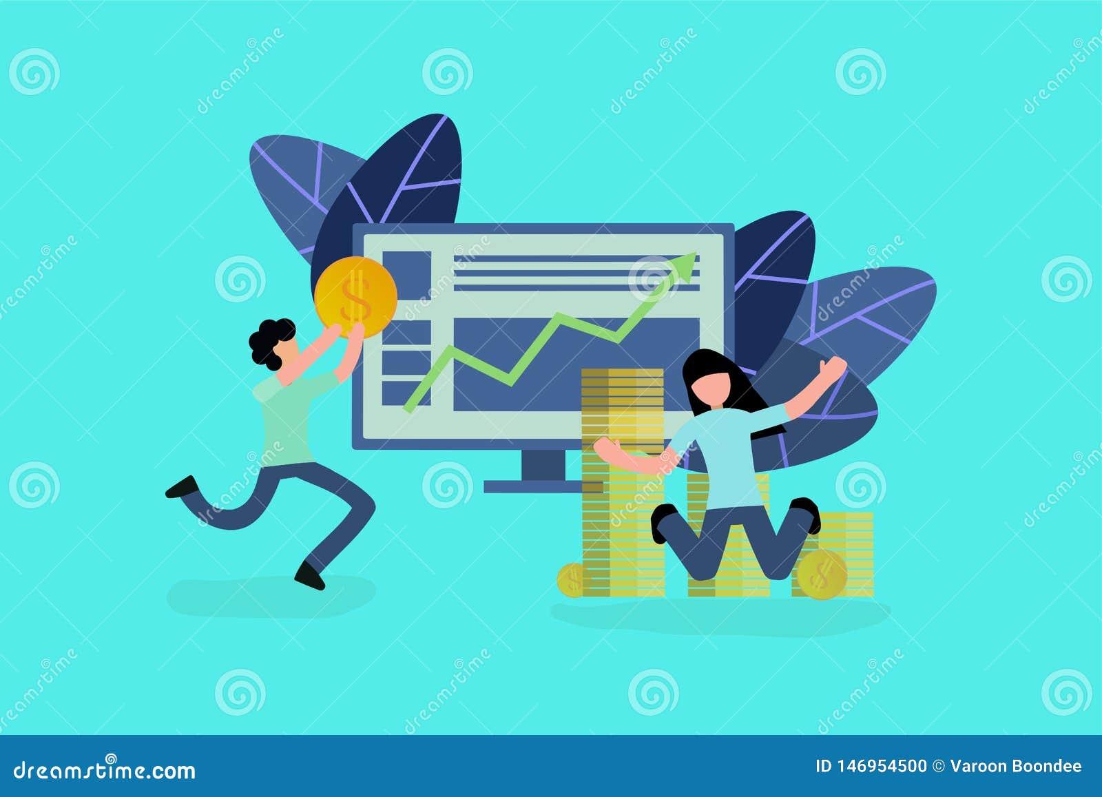 El éxito del concepto del negocio