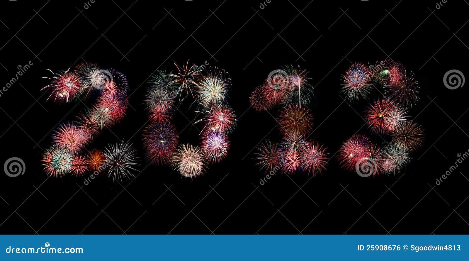 El año 2013 escrito en fuegos artificiales
