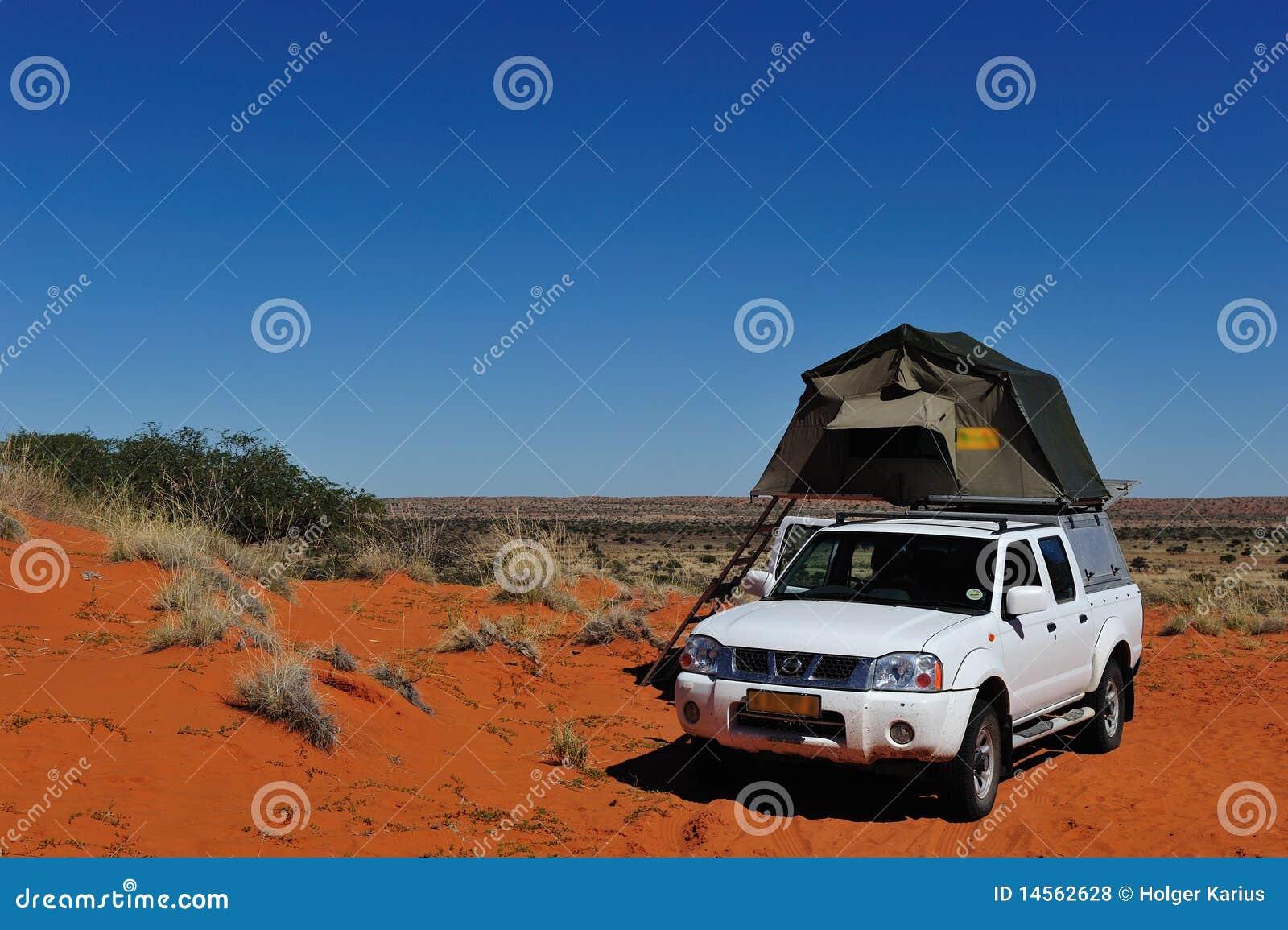 El acampar en Namibia
