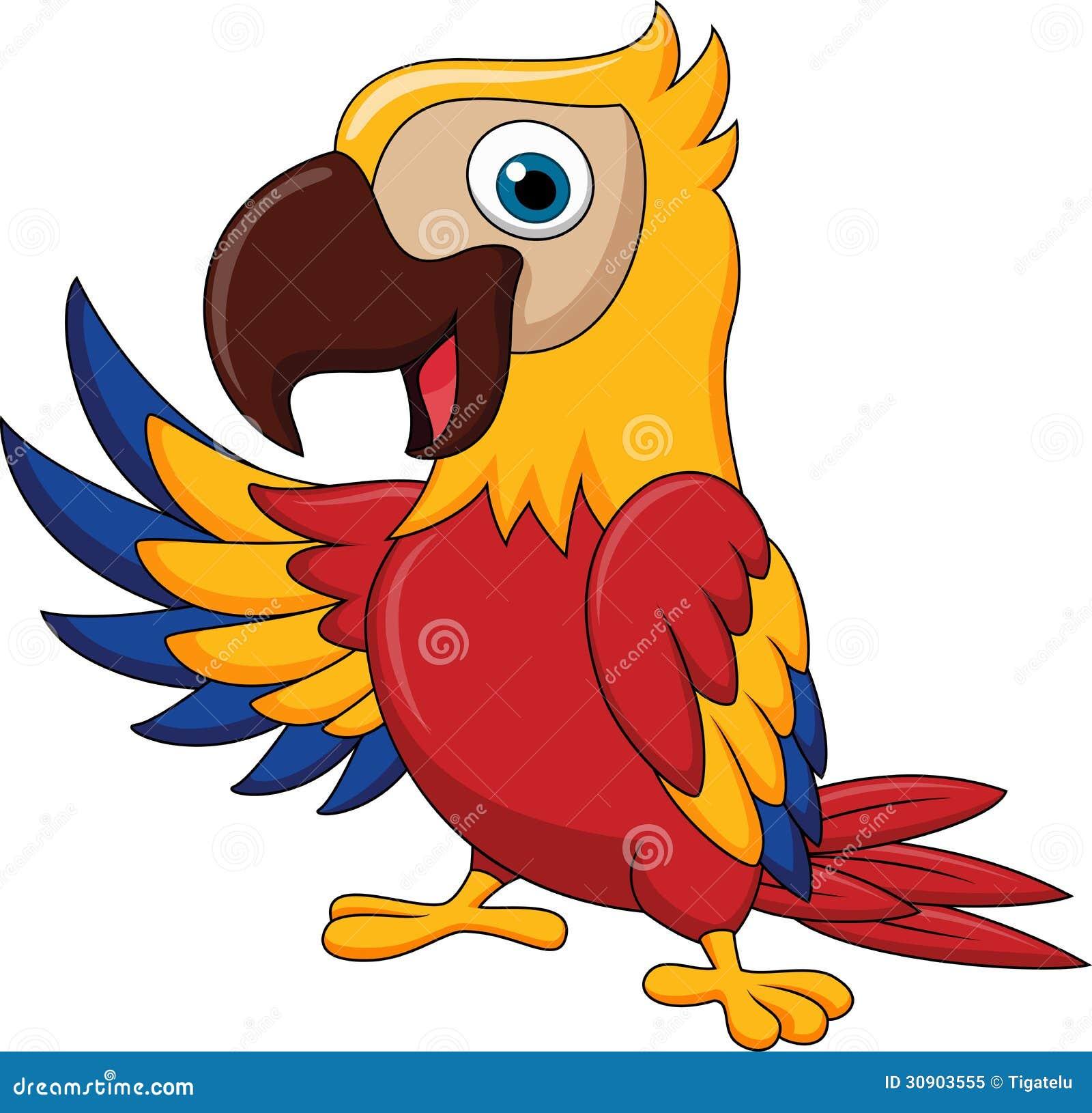El agitar de la historieta del pájaro del Macaw