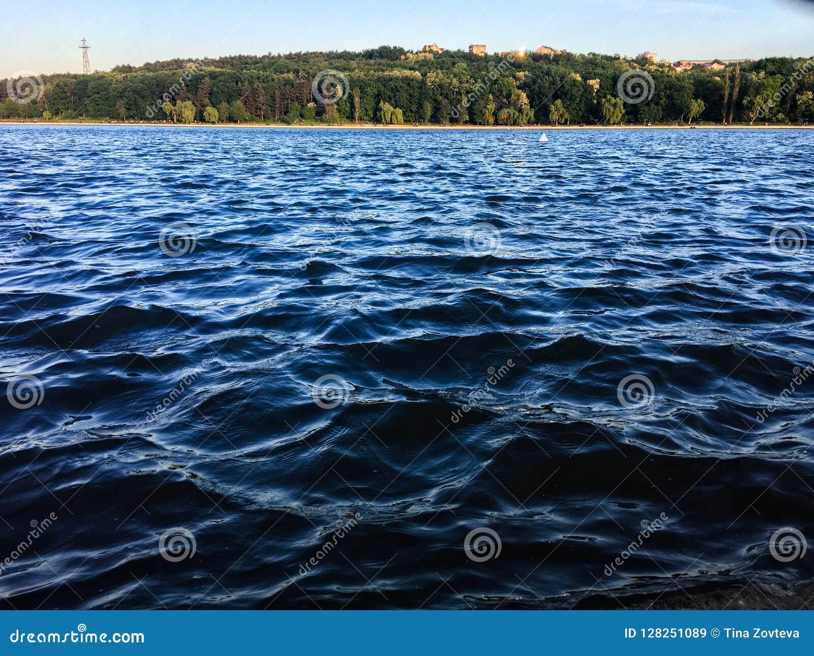 El agua de mar agita el fondo