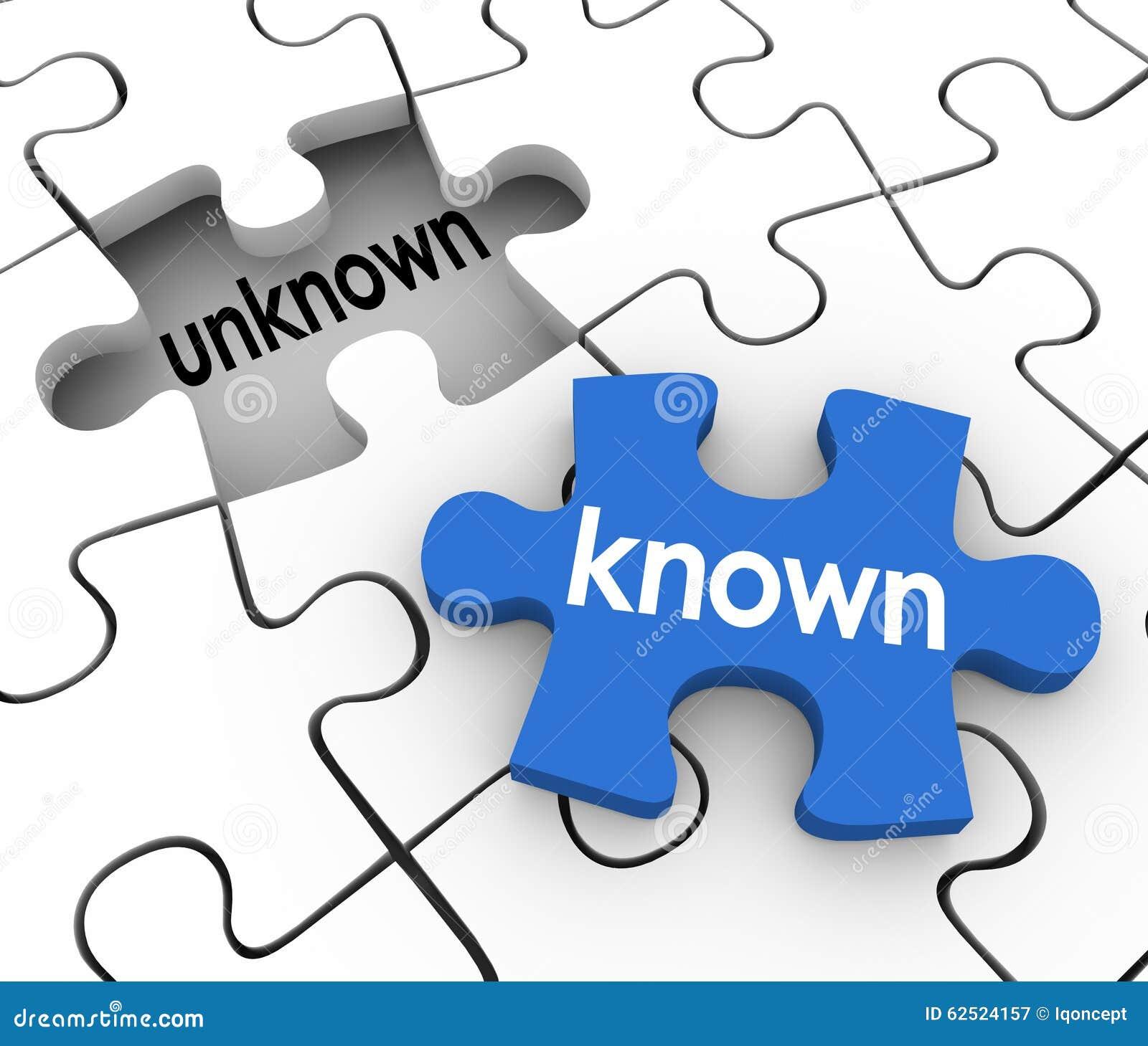 El agujero desconocido sabido del pedazo del rompecabezas llena la información adentro perdida