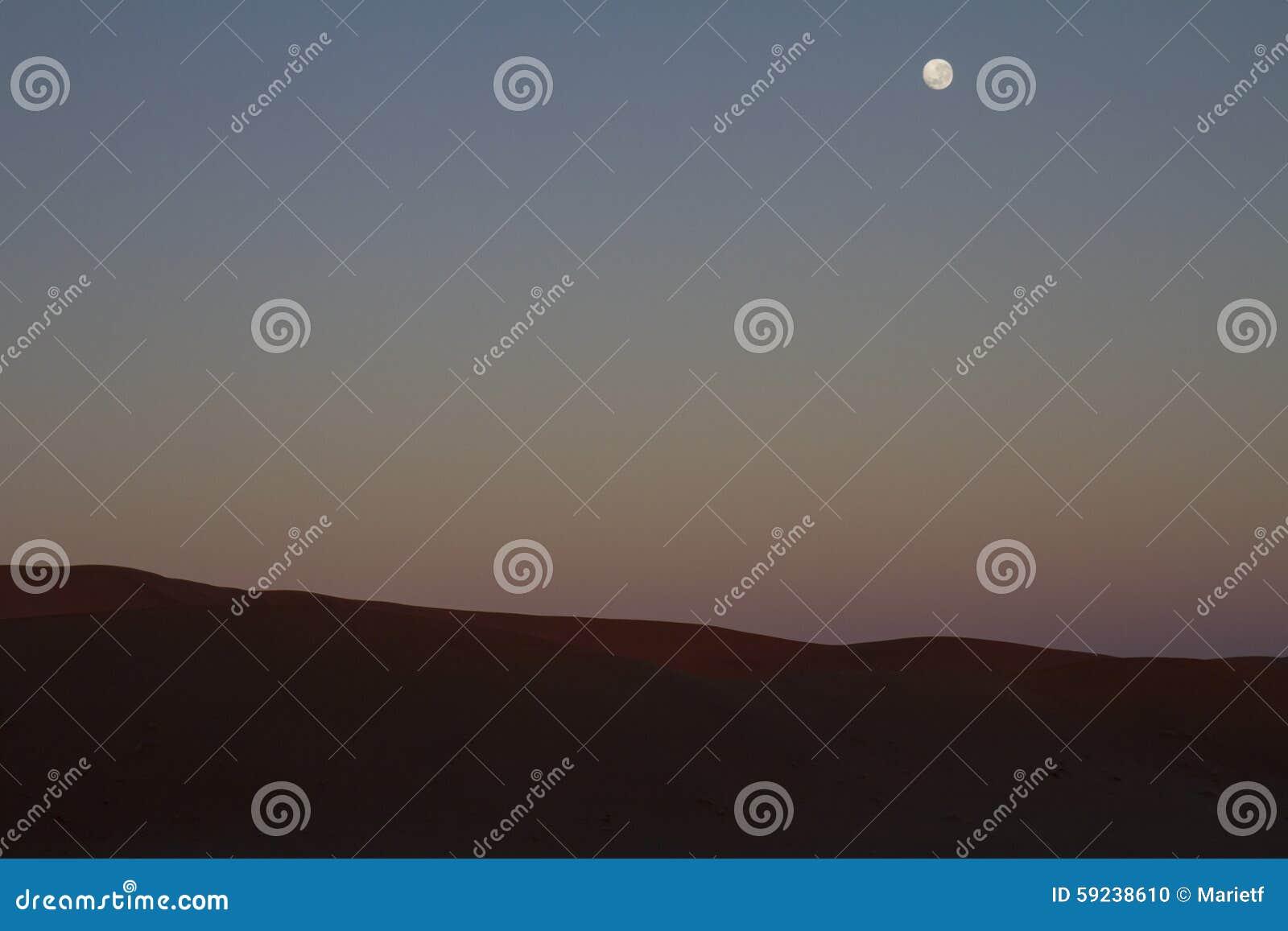 Download El Ajuste De La Luna Como El Sun Sube En Sossousvlei, Namibia Foto de archivo - Imagen de arena, dunas: 59238610