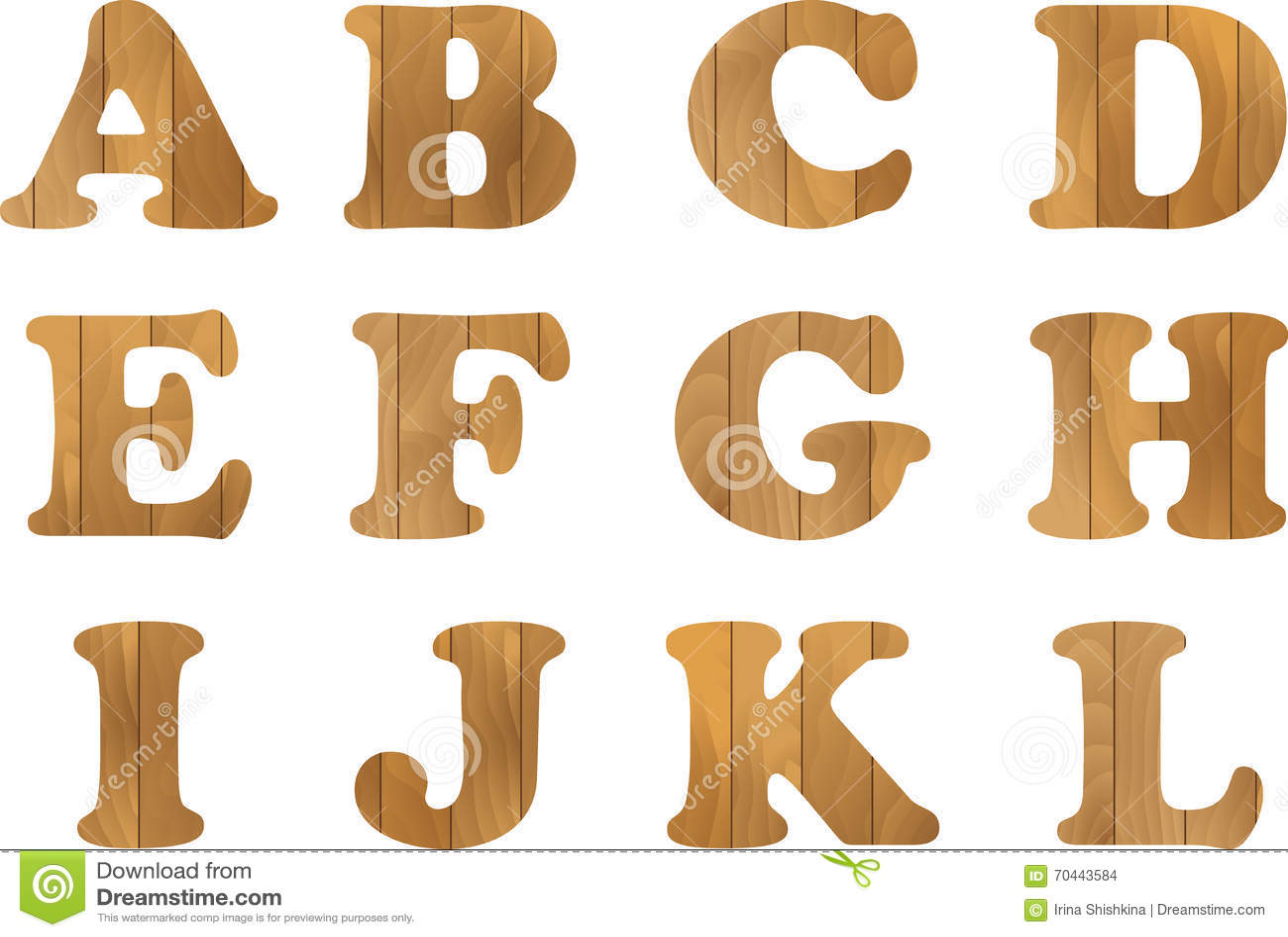 El alfabeto de madera vector fij con las letras de - Letras en madera ...