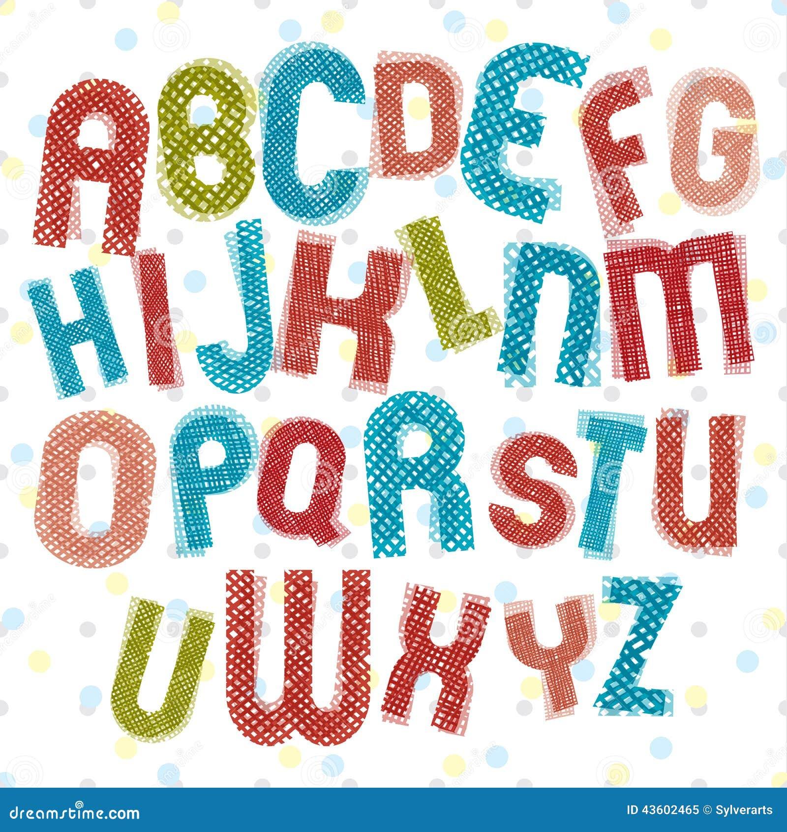 El alfabeto infantil ni os dise a letras coloridas con la - Fuente letra infantil ...