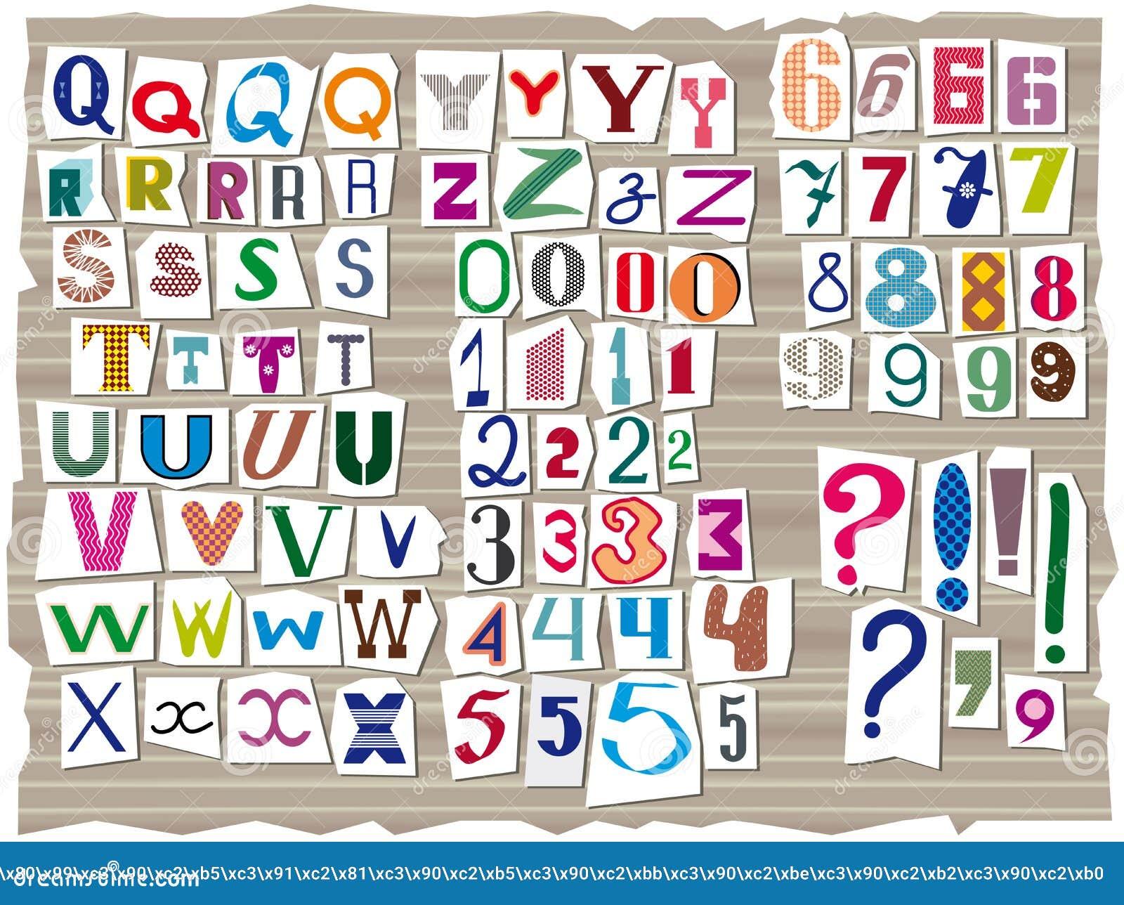 El alfabeto latino, compuesto de las letras de diversos tamaños y formas, se compone en el estilo de las inscripciones del detect
