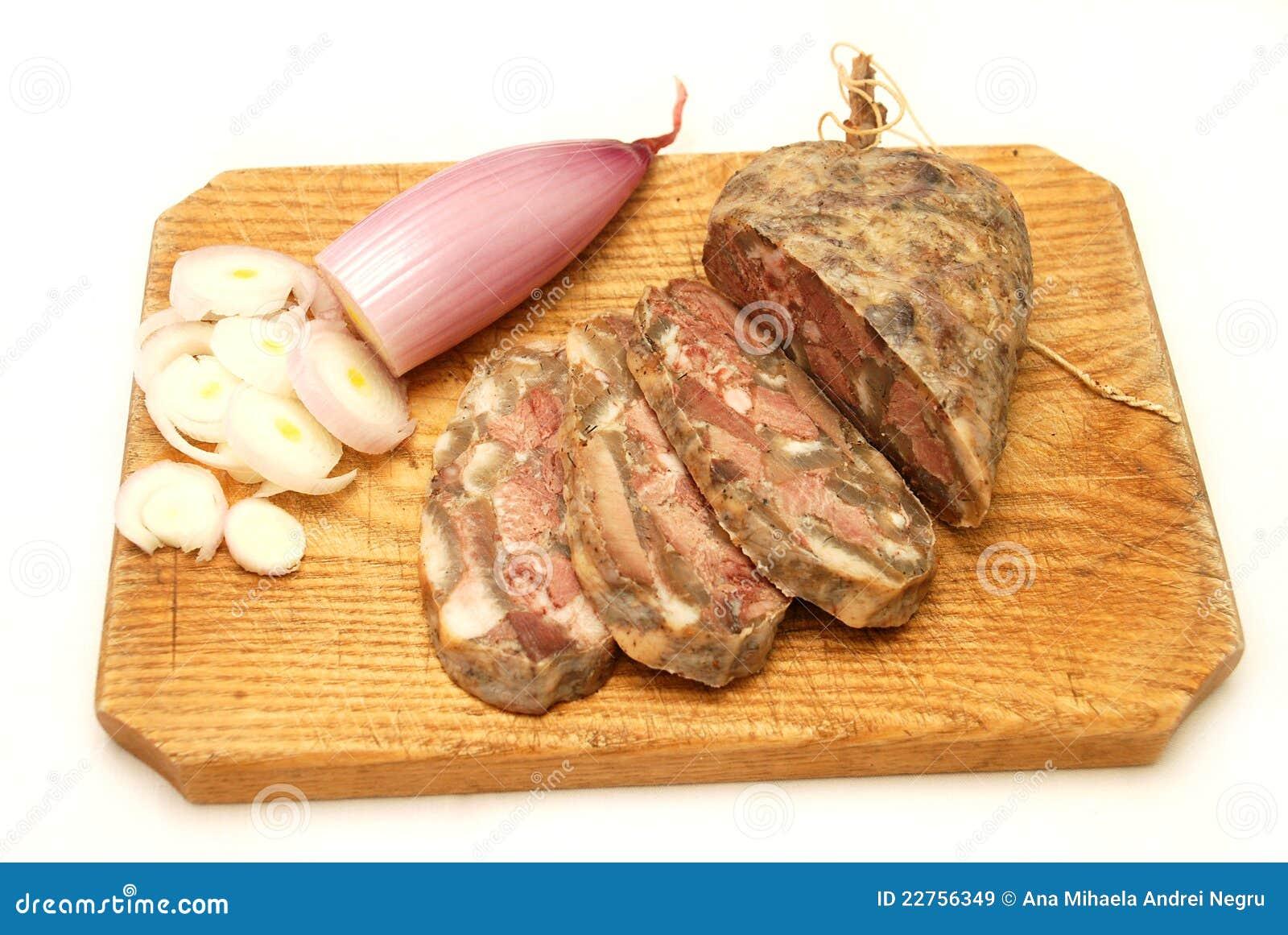 El alimento rumano tradicional llamó toba