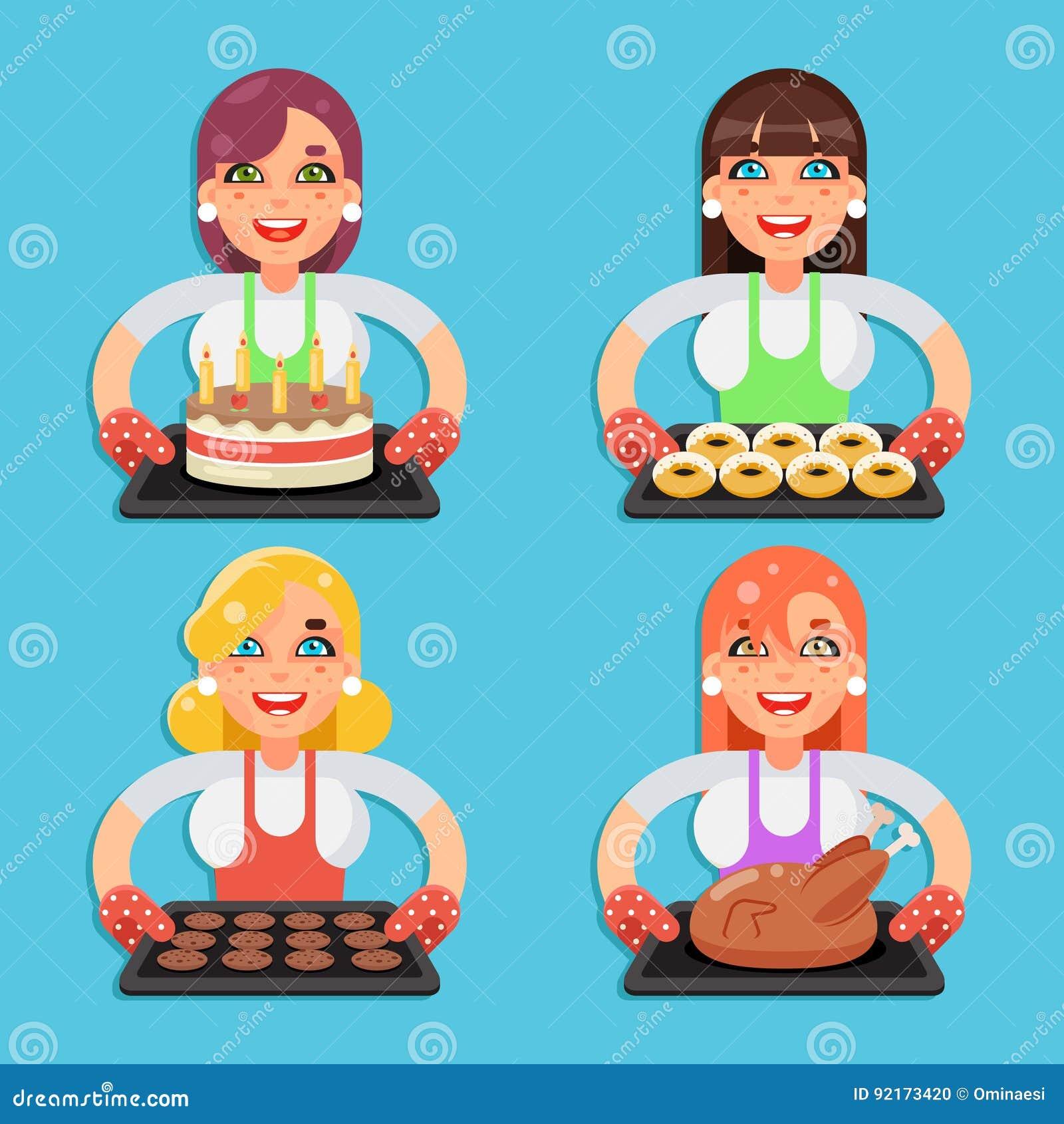 El ama de casa del pavo del pollo frito de las galletas del buñuelo de la torta de la receta de la familia con los caracteres hec