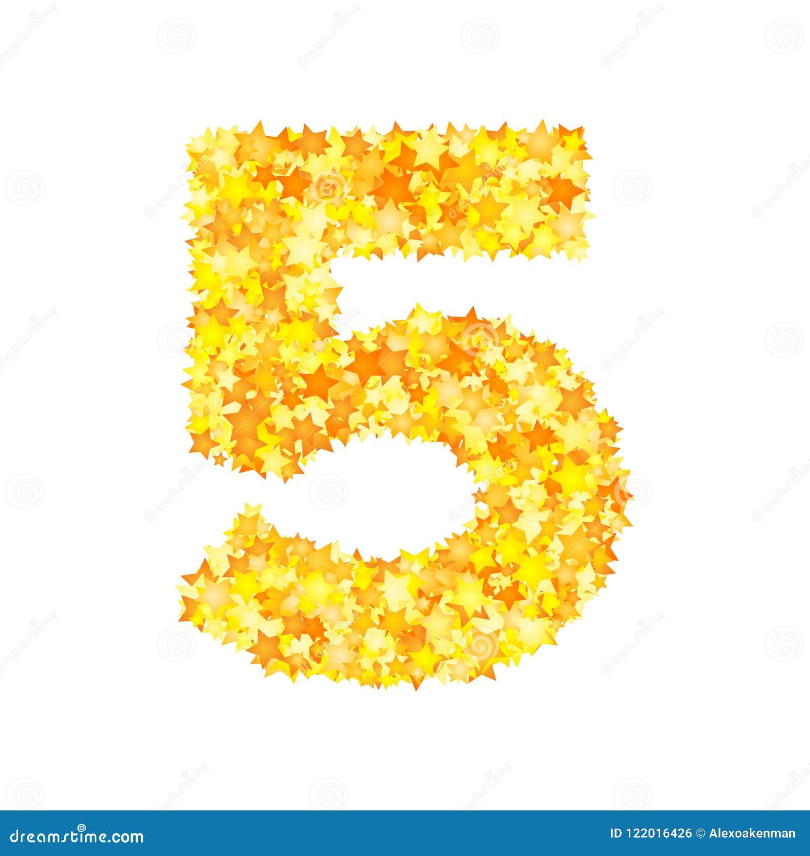 El amarillo del vector protagoniza la fuente, número 5