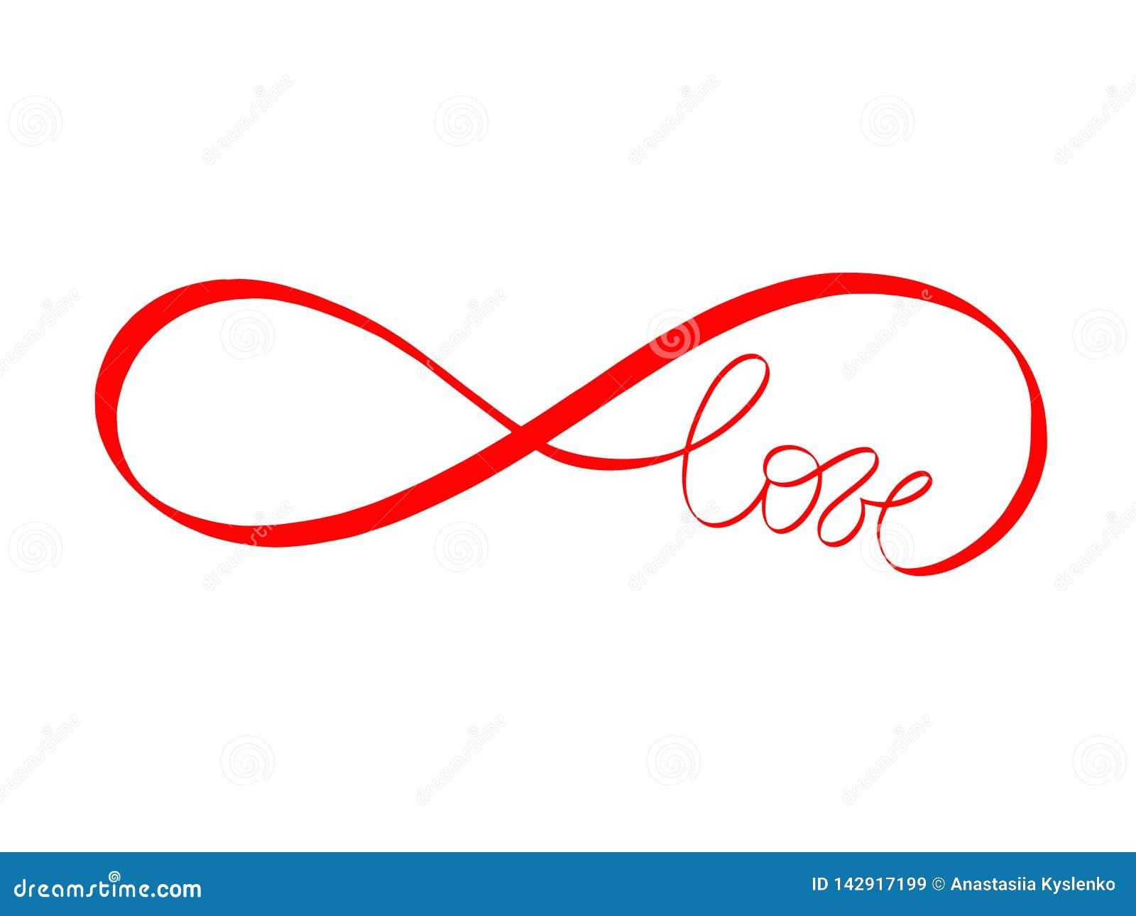 El Amor Abstracto Firma En Color Rojo Letras De Amor Sin Fin