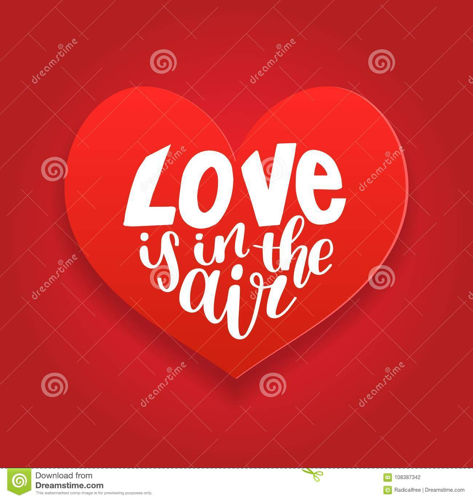 El Amor De La Frase De Las Letras De La Mano Del Vector Esta En El