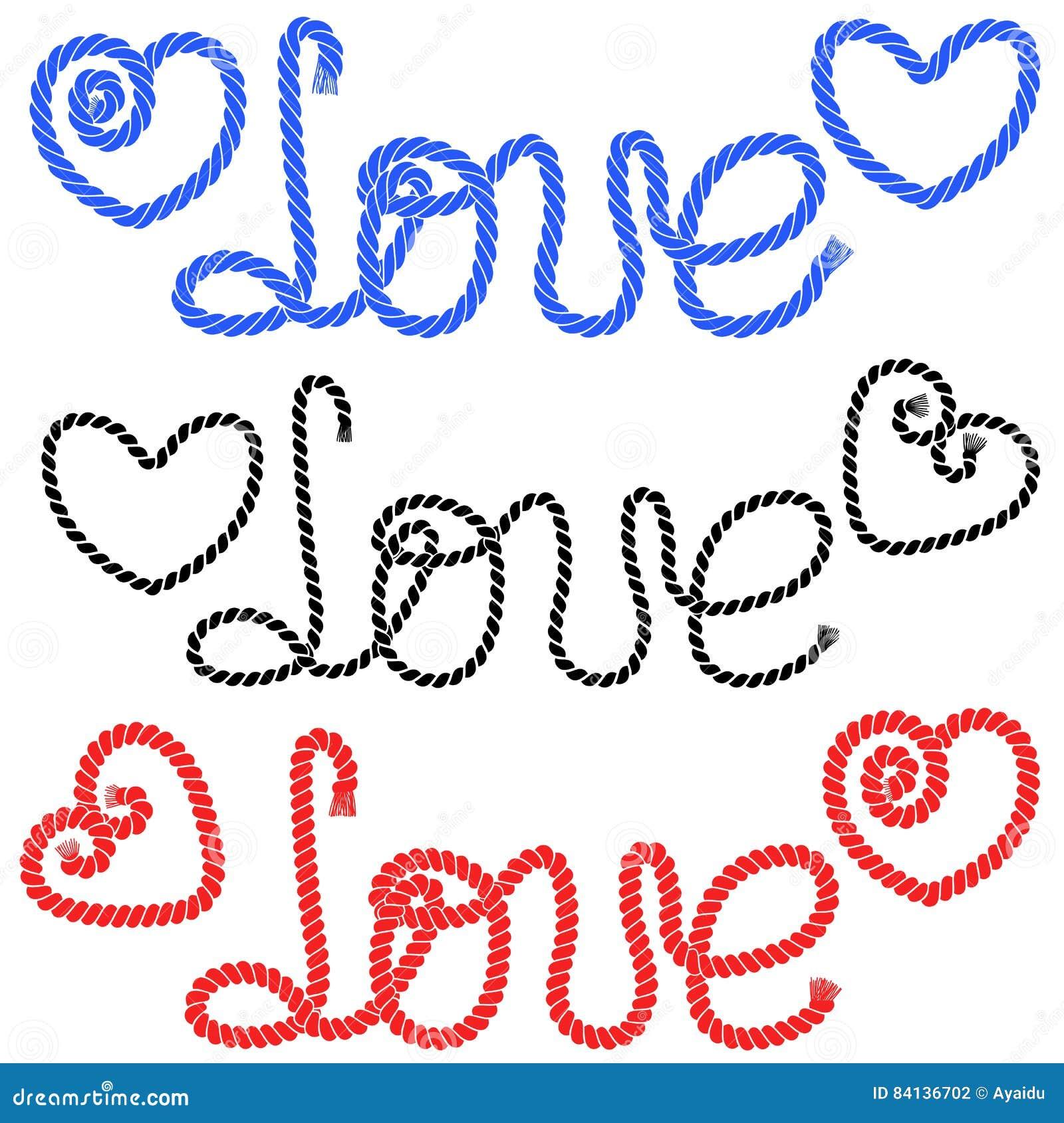 El amor de la palabra y dibujado un corazón en las cuerdas