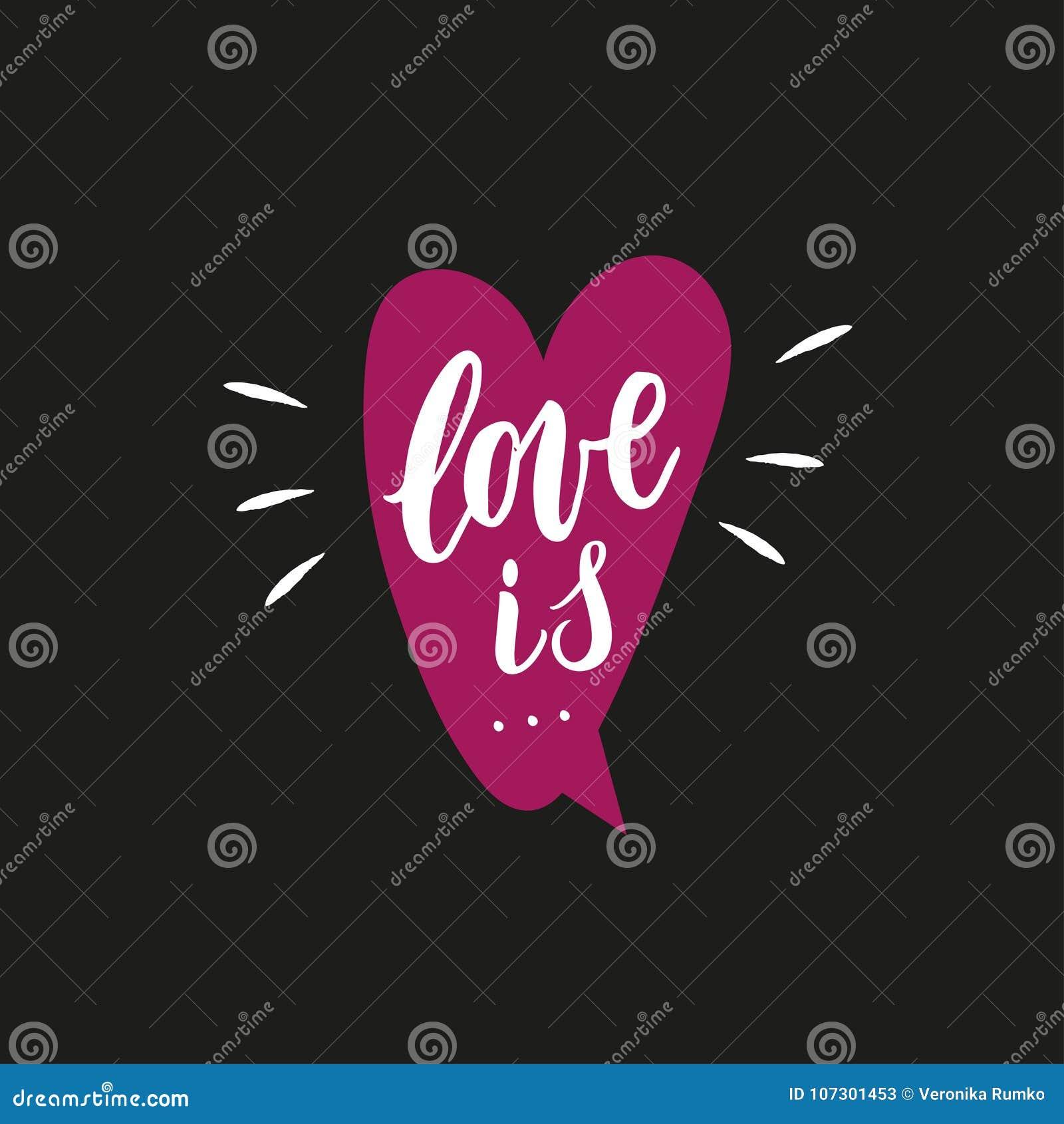 El Amor Es Frase Escrita Mano Con Los Elementos De La Decoracion