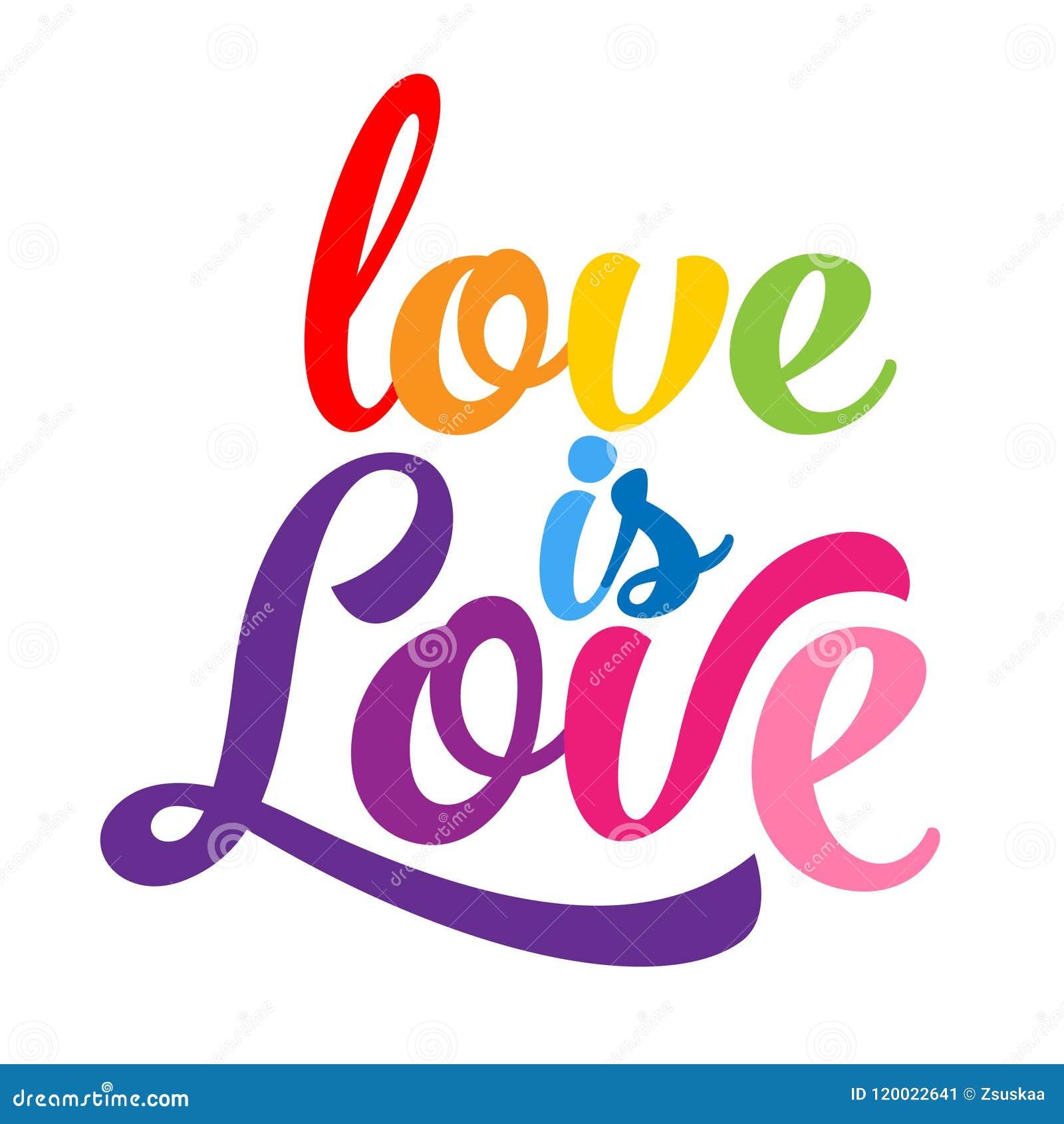 El amor es amor - lema del orgullo de LGBT