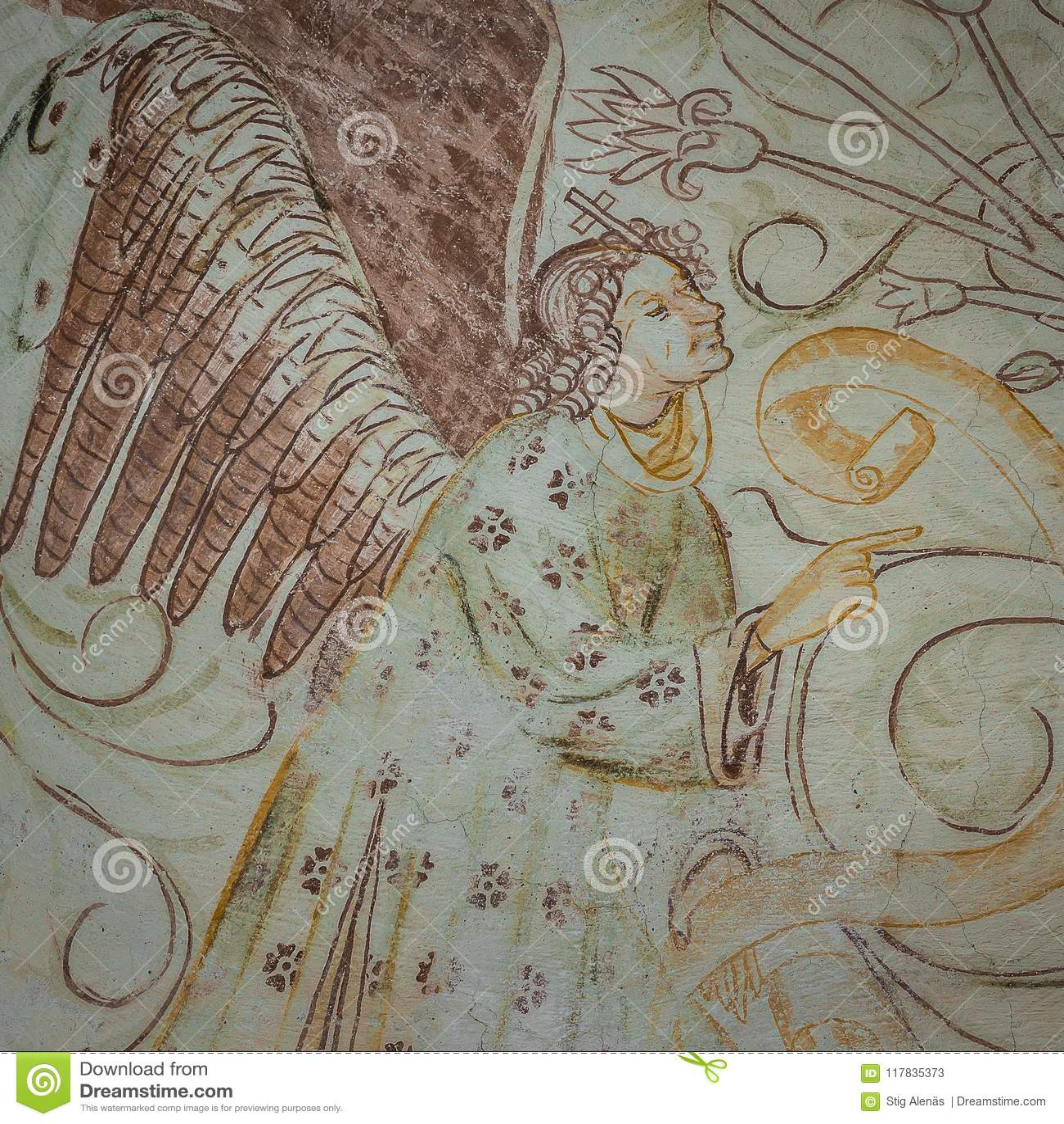 El Anuncio El Arcangel Gabriel Dice Virgen Maria Alrededor Imagen