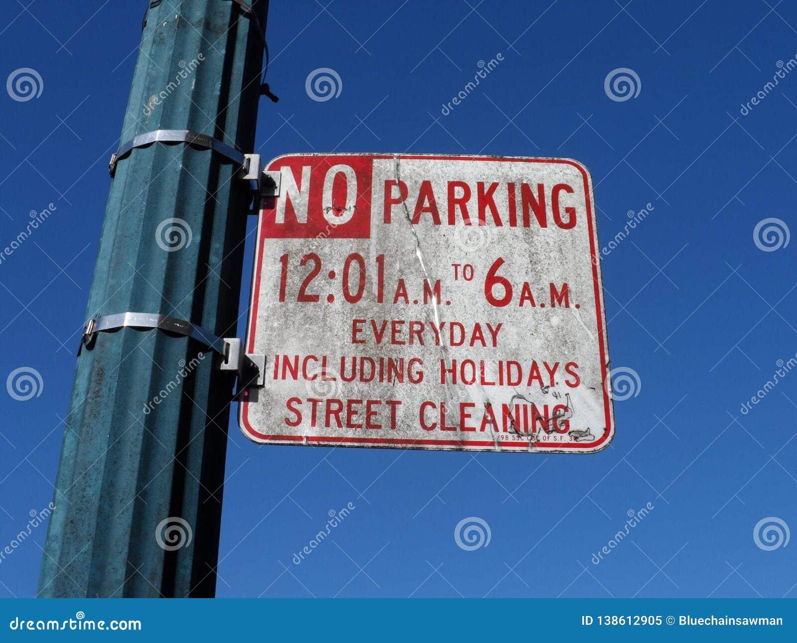 El aparcamiento sucio firma adentro San Francisco
