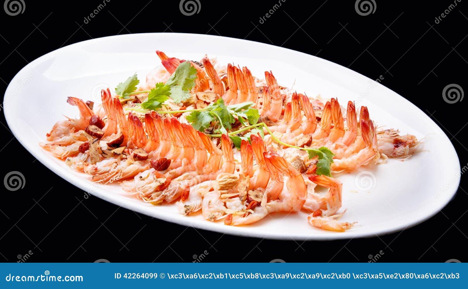 El aperitivo de la gamba del camar n cocinado sazon el - Aperitivos de mariscos ...