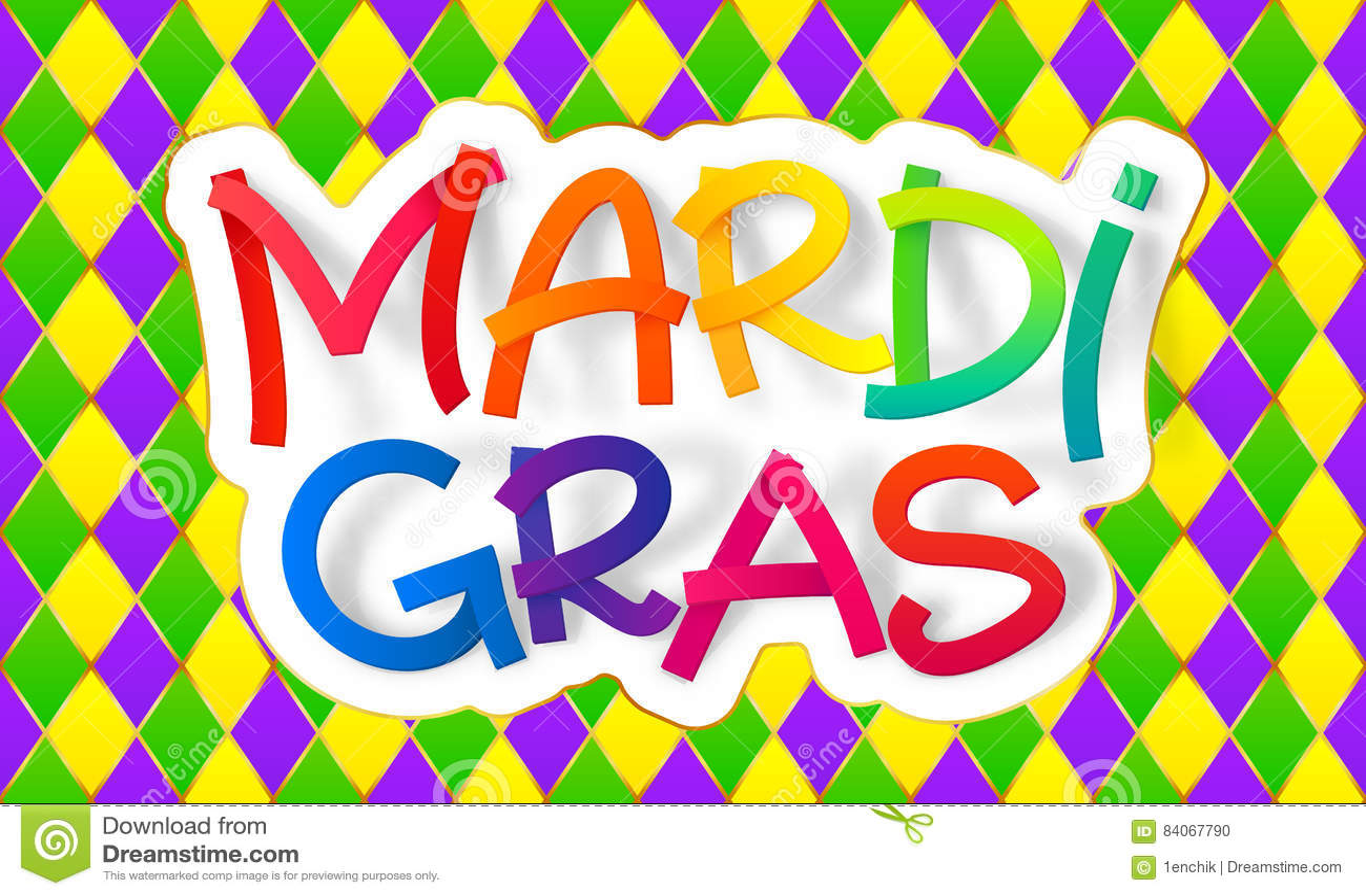 El Arco Iris Colorea La Muestra De Las Letras De Mardi Gras En ...