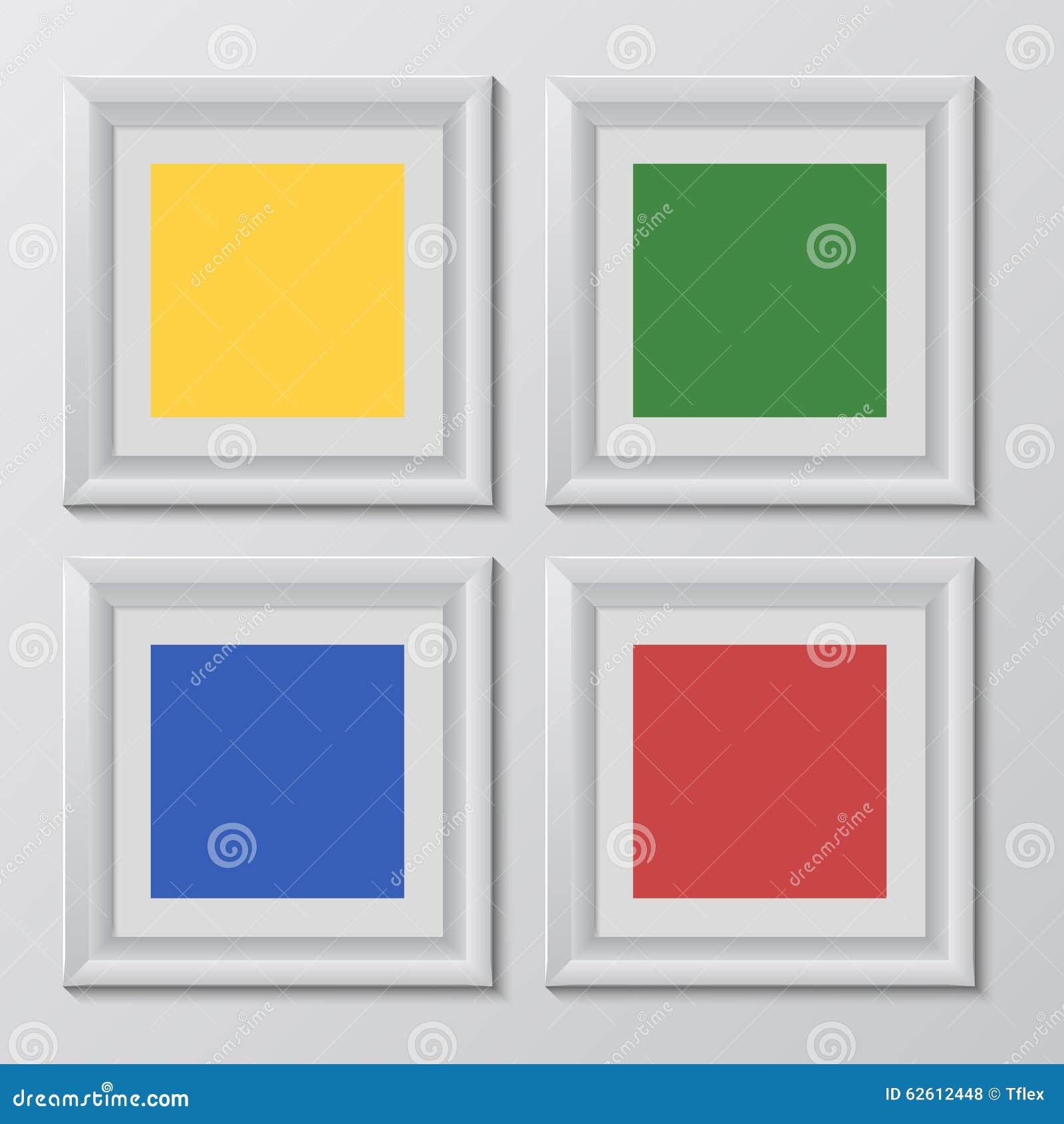 El Arco Iris Cuadrado De Madera Del Color De Los Marcos Fijó Para Su ...