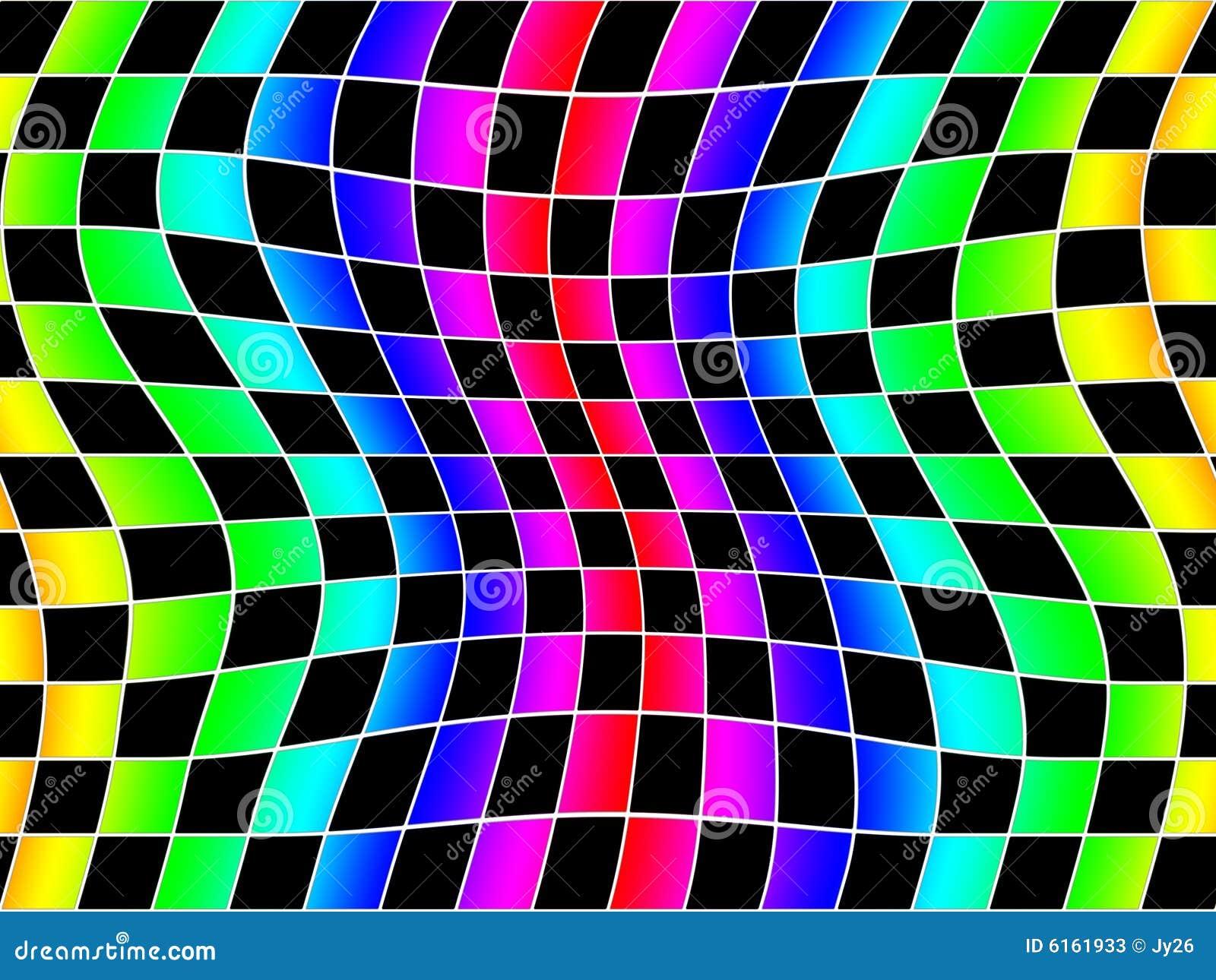 El arco iris de Wavey ajusta el fondo