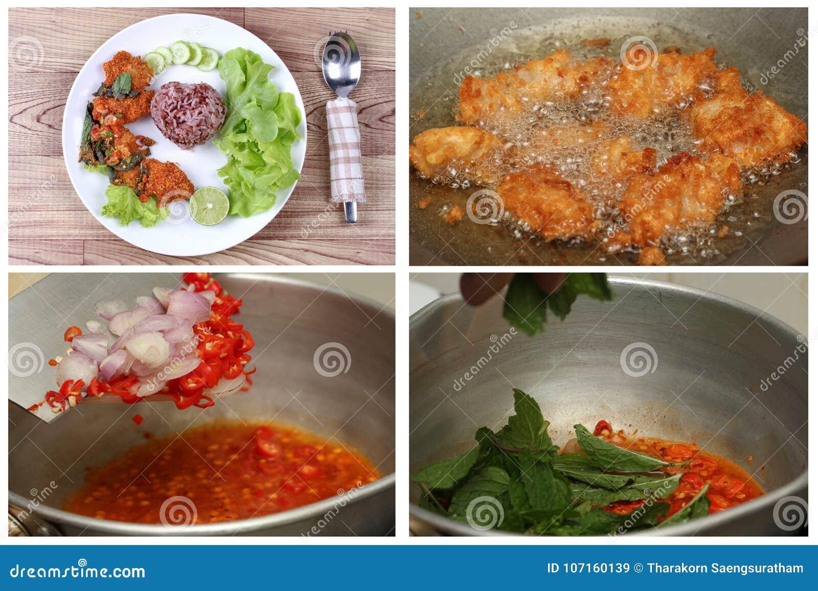 Cocinar Arroz Rojo   El Arroz Rojo Organico Del Jazmin Con Picante Agria La Ensalada De
