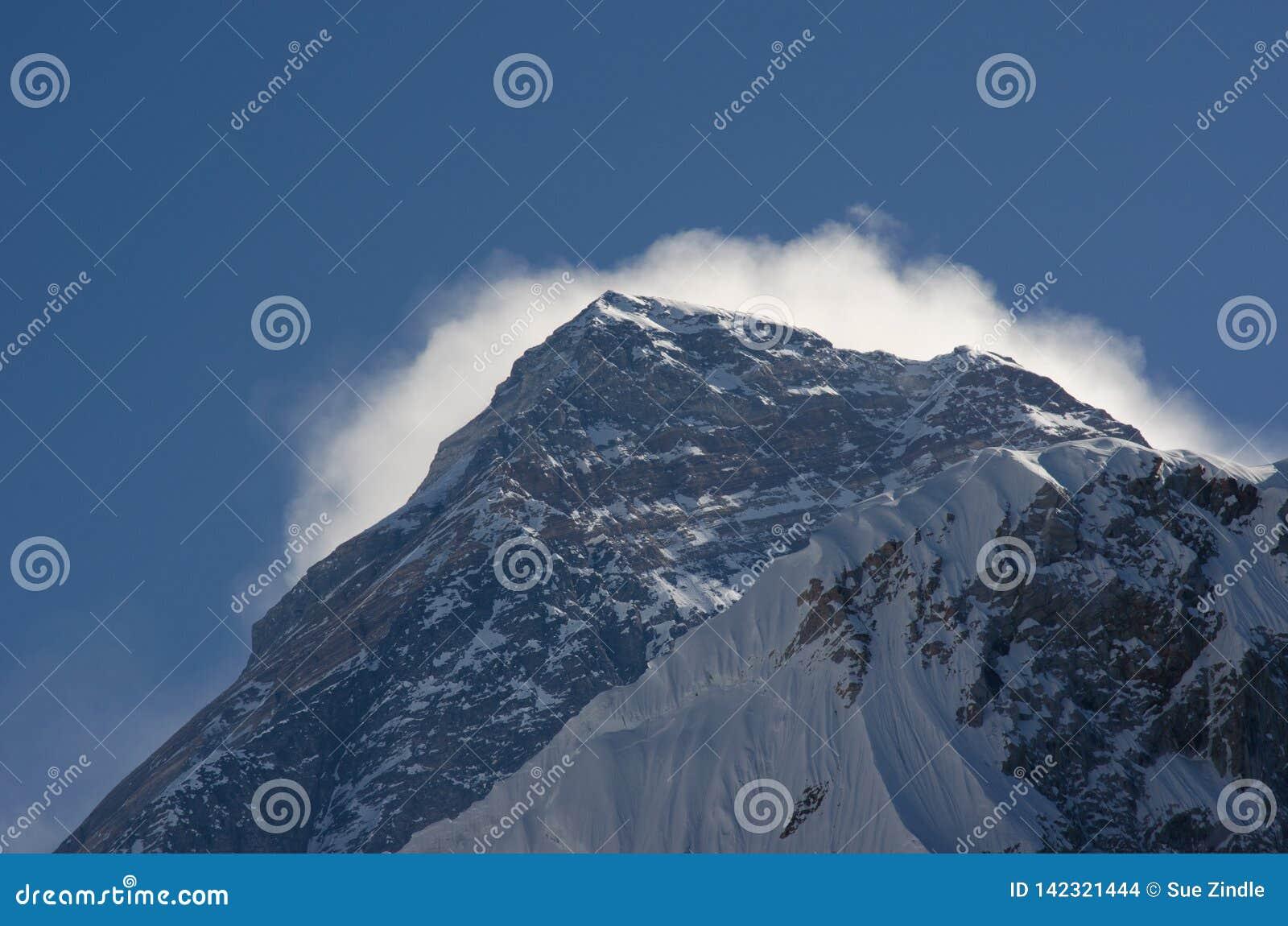 El asomar del Mt Everest