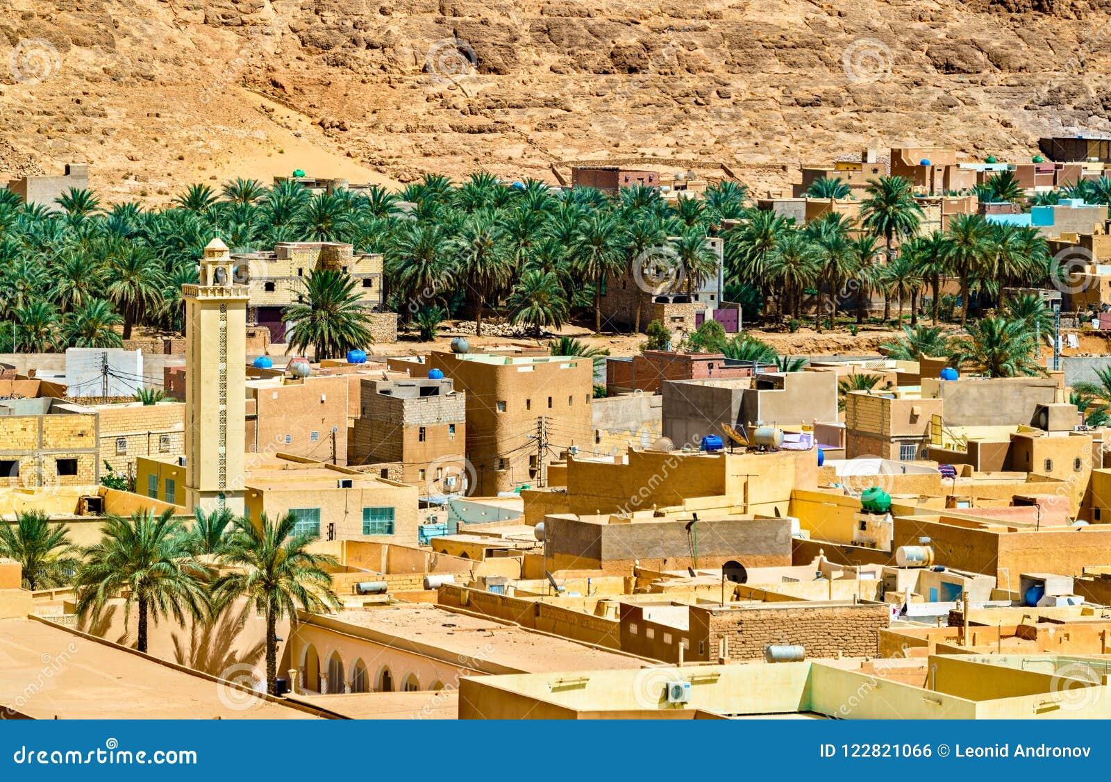 El Atteuf, en gammal stad i den M-`-Zab dalen i Algeriet