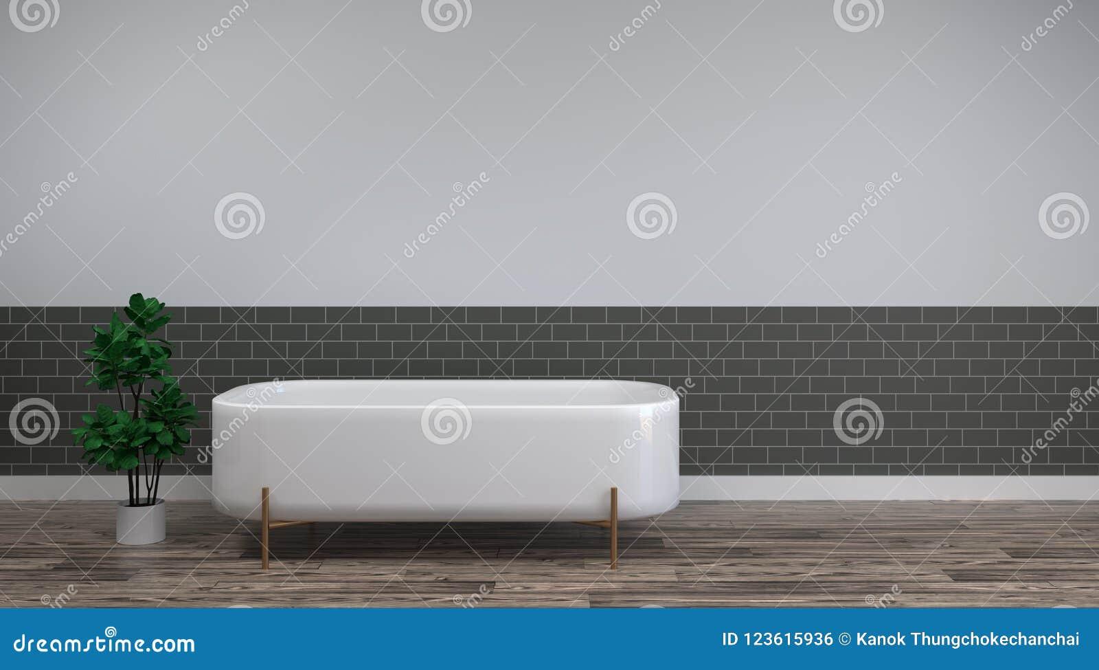 El Baño Blanco Está En Los Diseños Interiores Del Hogar Del