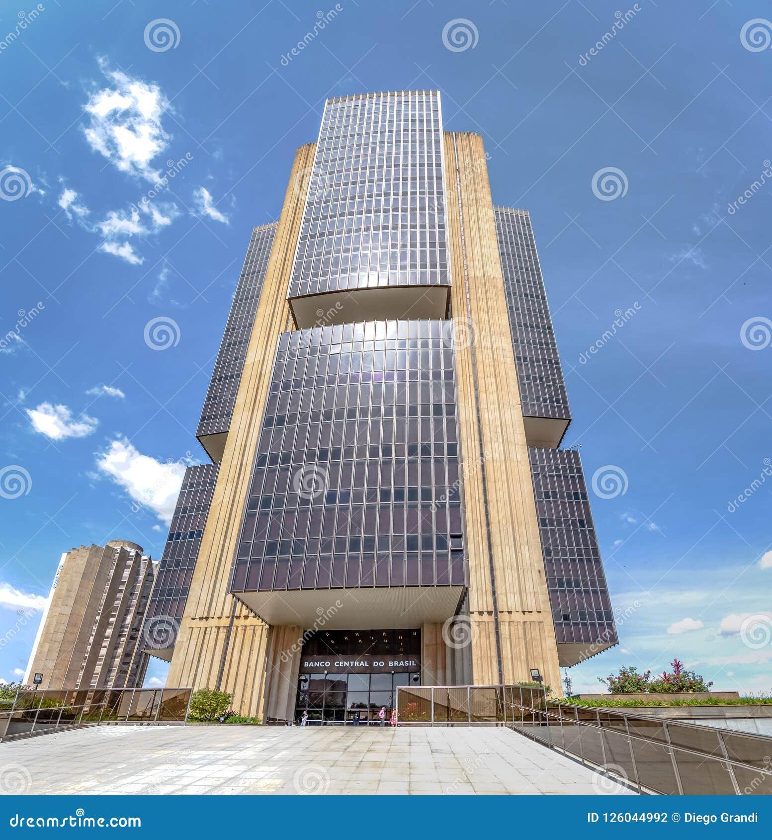 El banco del Brasil central establece jefatura del edificio - Brasilia, Distrito federal, el Brasil