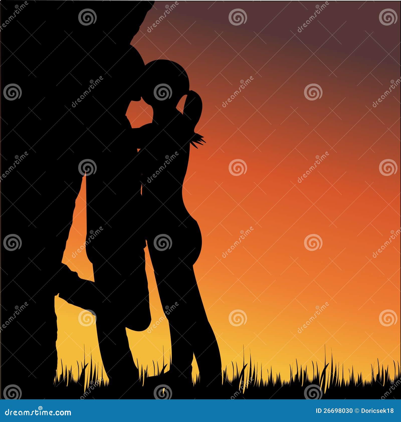 El besarse de los amantes