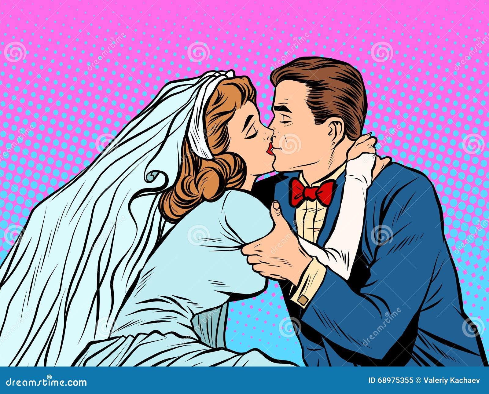 El beso de novia y del novio