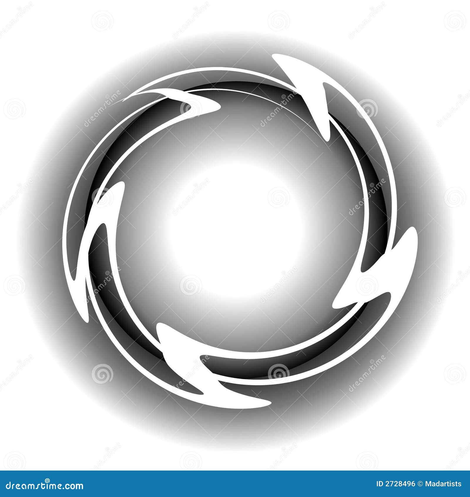 El blanco agita insignia del Web del círculo